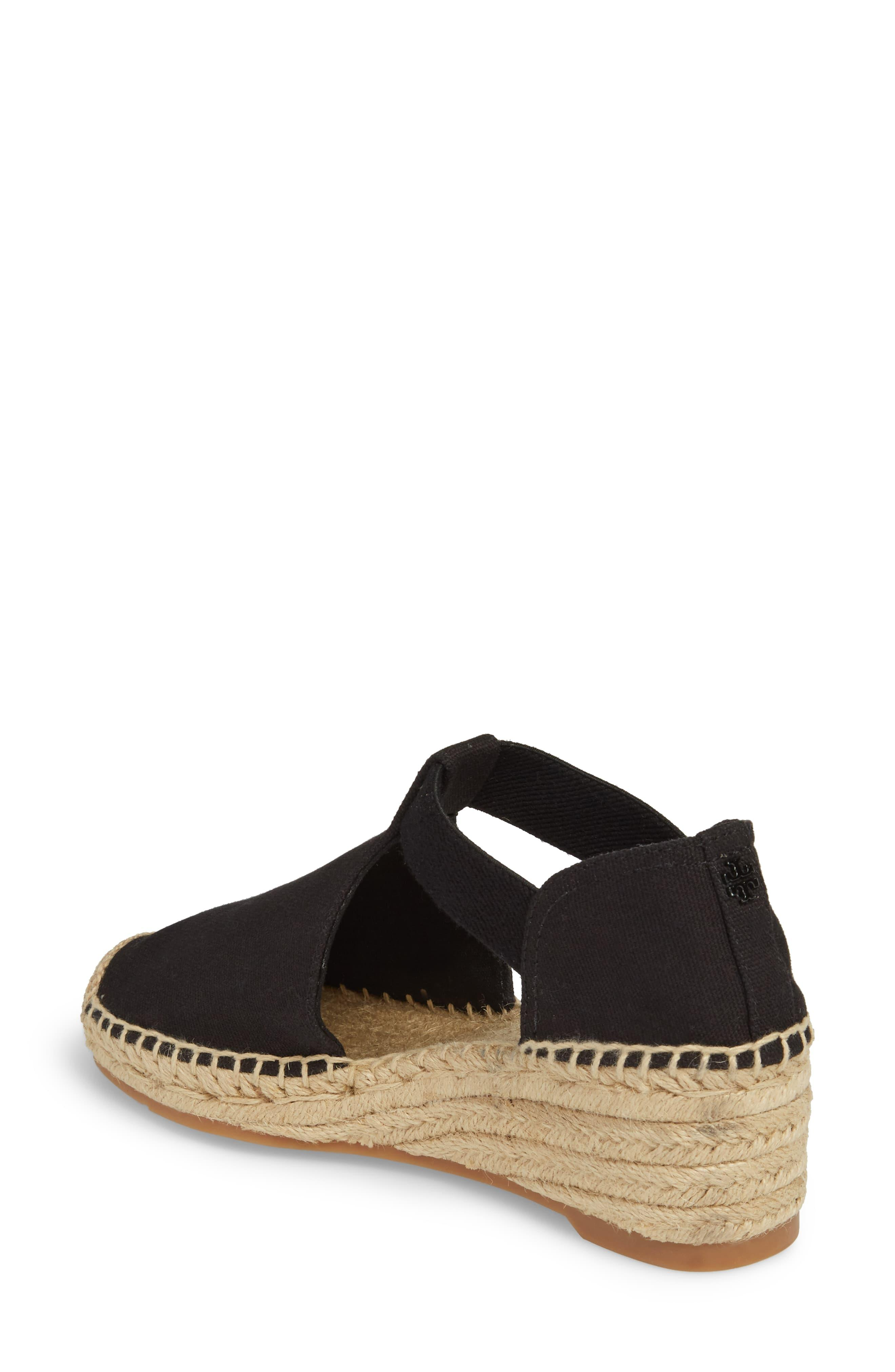 11c3126f576 Tory Burch Black Catalina 3 Espadrille Wedge Sandal