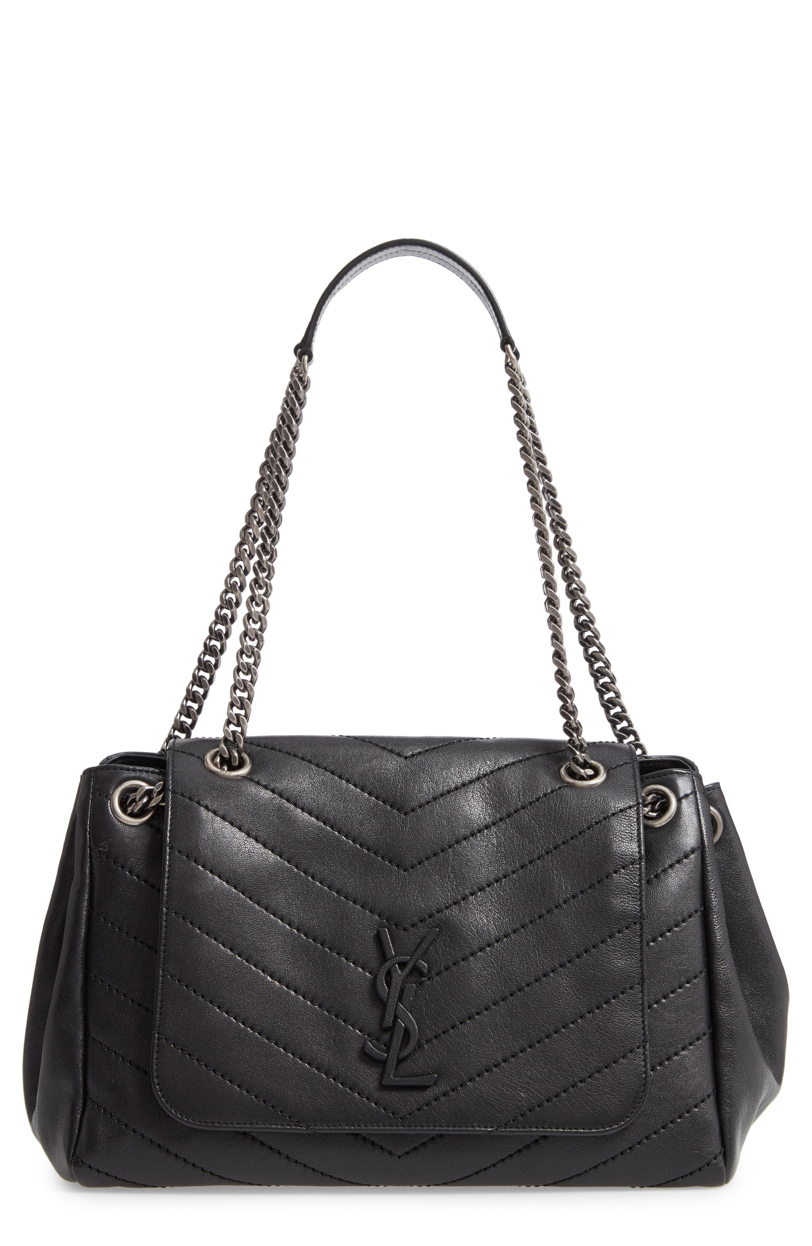 ac79563ec867 Saint Laurent Nolita Large Leather Shoulder Bag in Black - Lyst