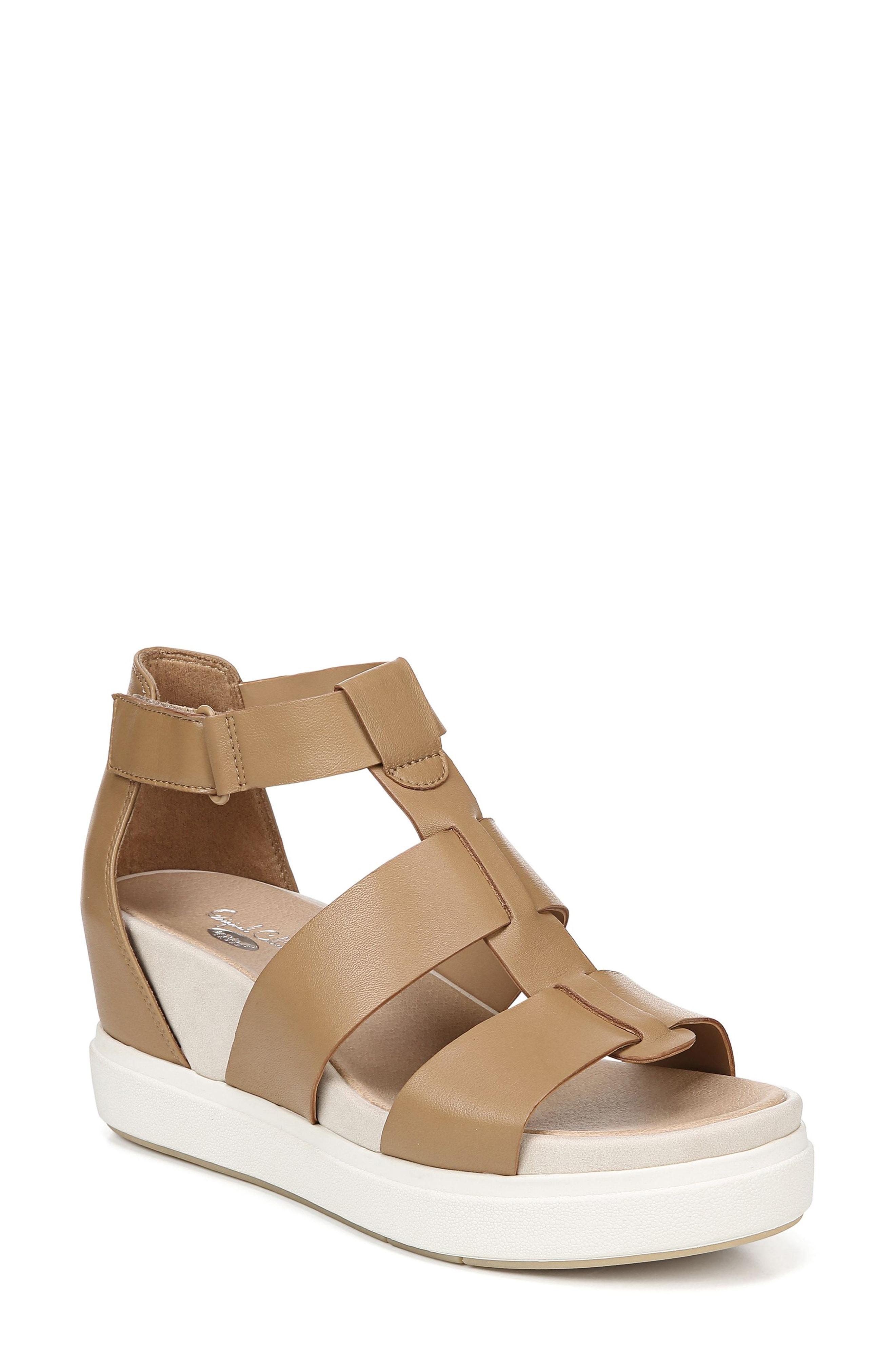 9ea27b78d Lyst - Dr. Scholls Saffron Wedge Sandal in Brown
