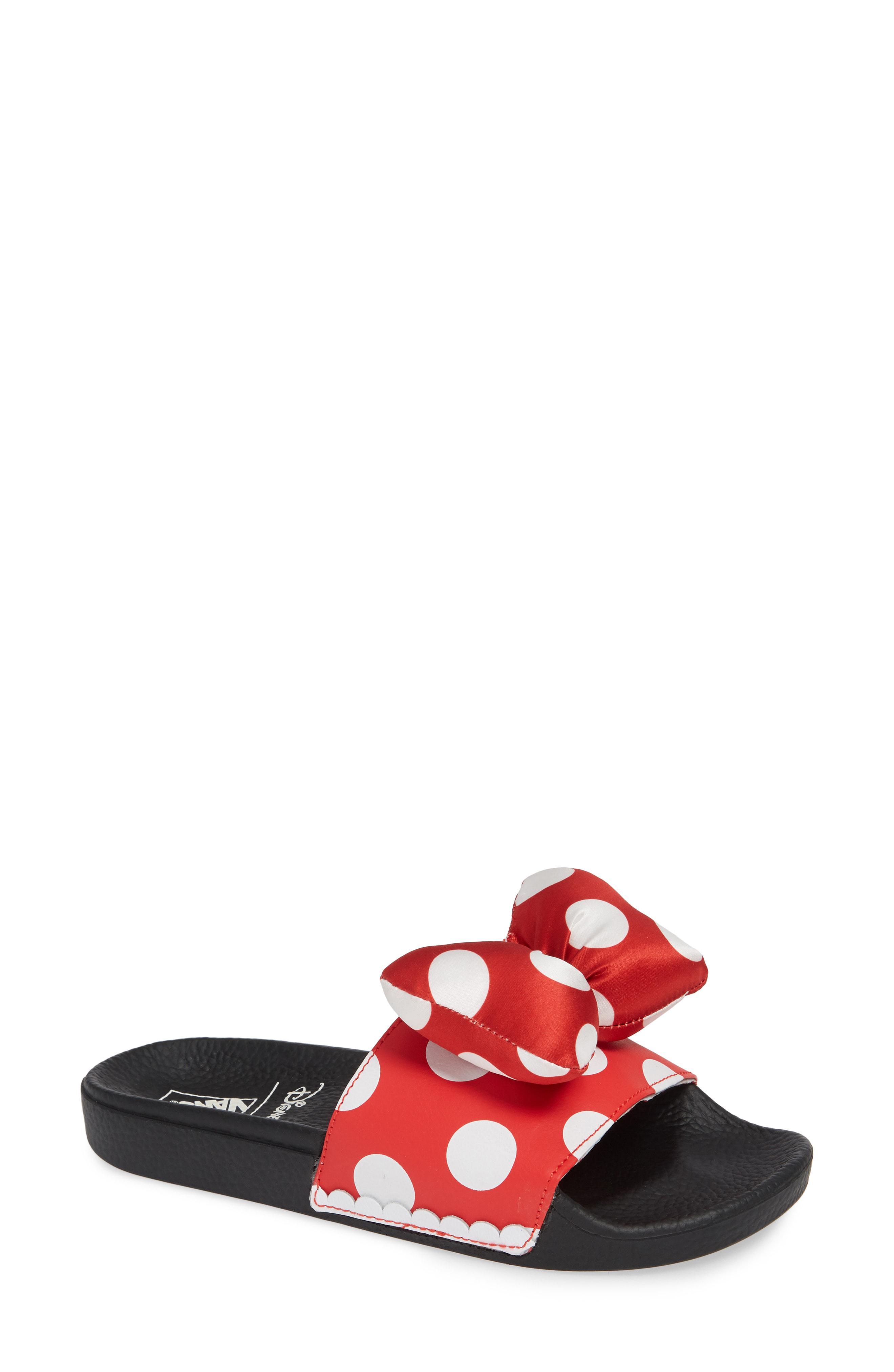 d7c025f93df5 Lyst - Vans X Disney Minnie Mouse Slide Sandal in Red