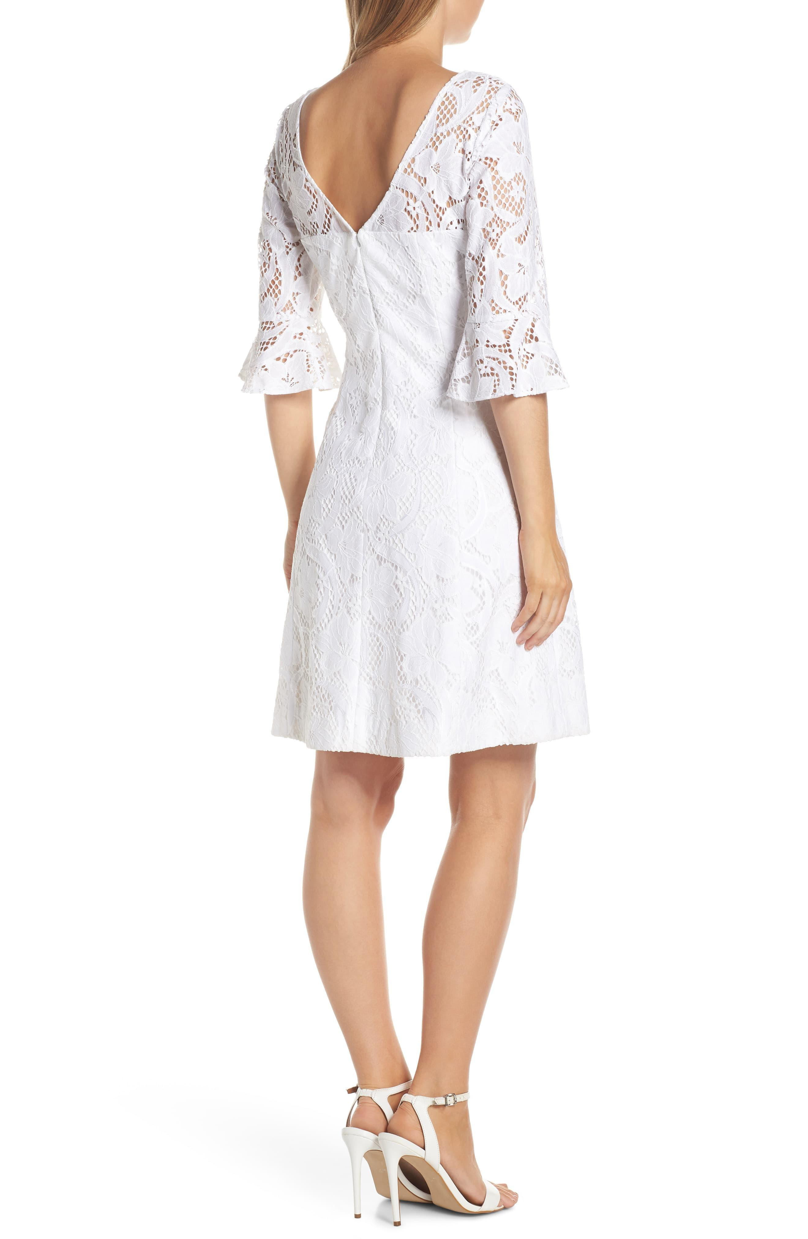 6abd70e462a ... Lilly Pulitzer Allyson Lace Fit   Flare Dress - Lyst. View fullscreen