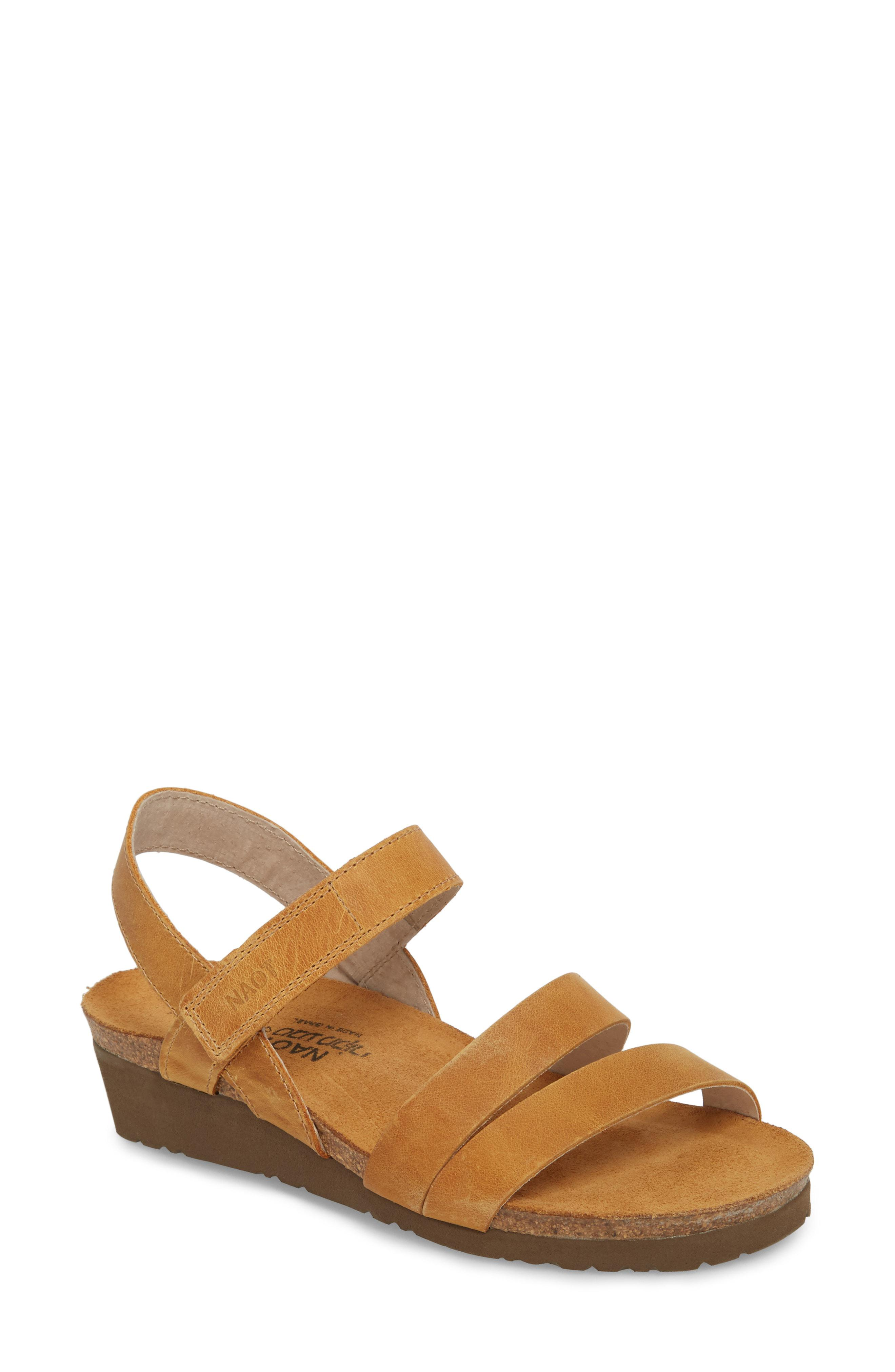 eb7798a5bb50 Lyst - Naot Kayla Wedge Sandal in Natural