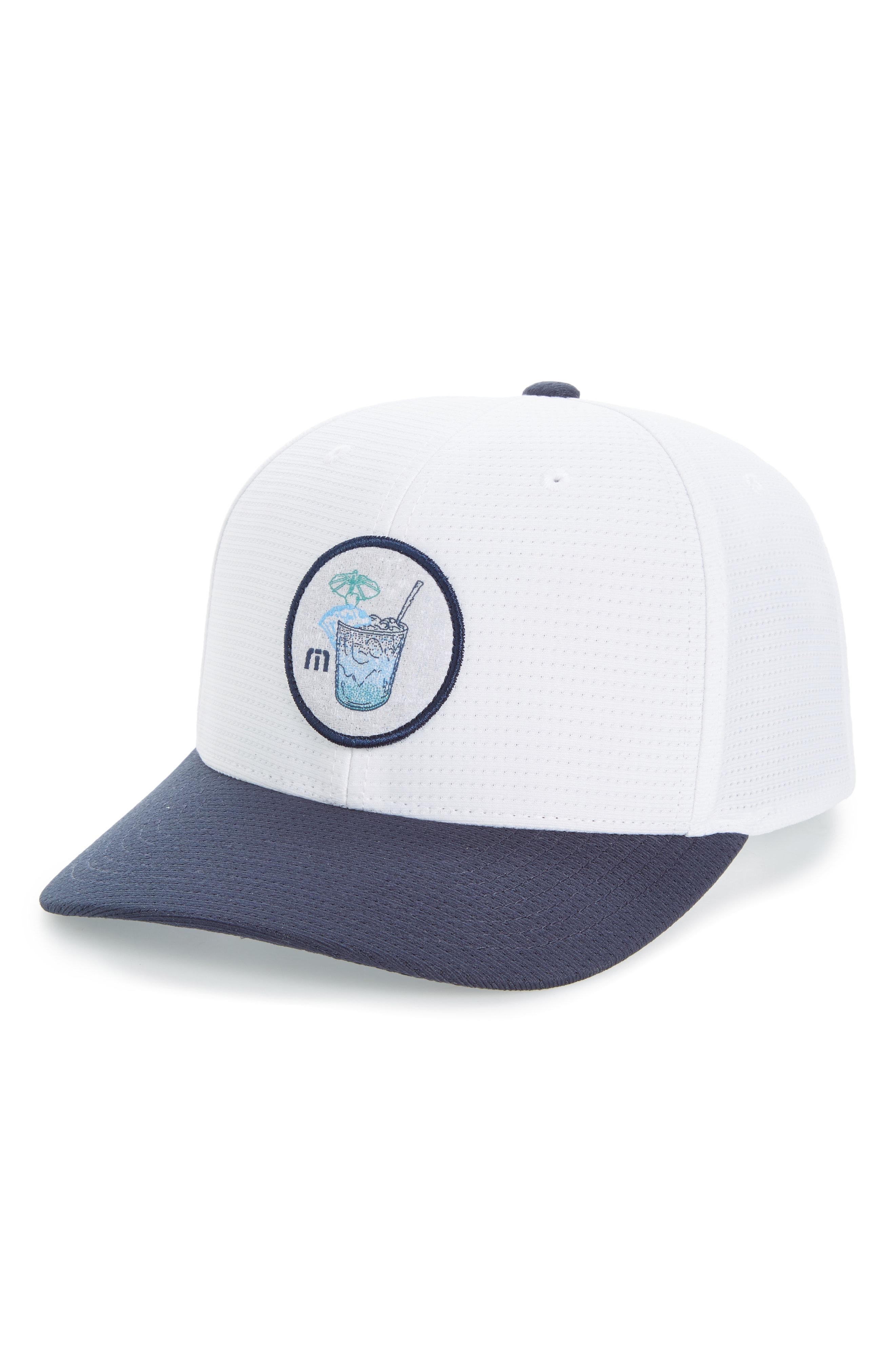 Lyst - Travis Mathew Sunday Logo Patch Cap in White for Men 8b2eb976123d