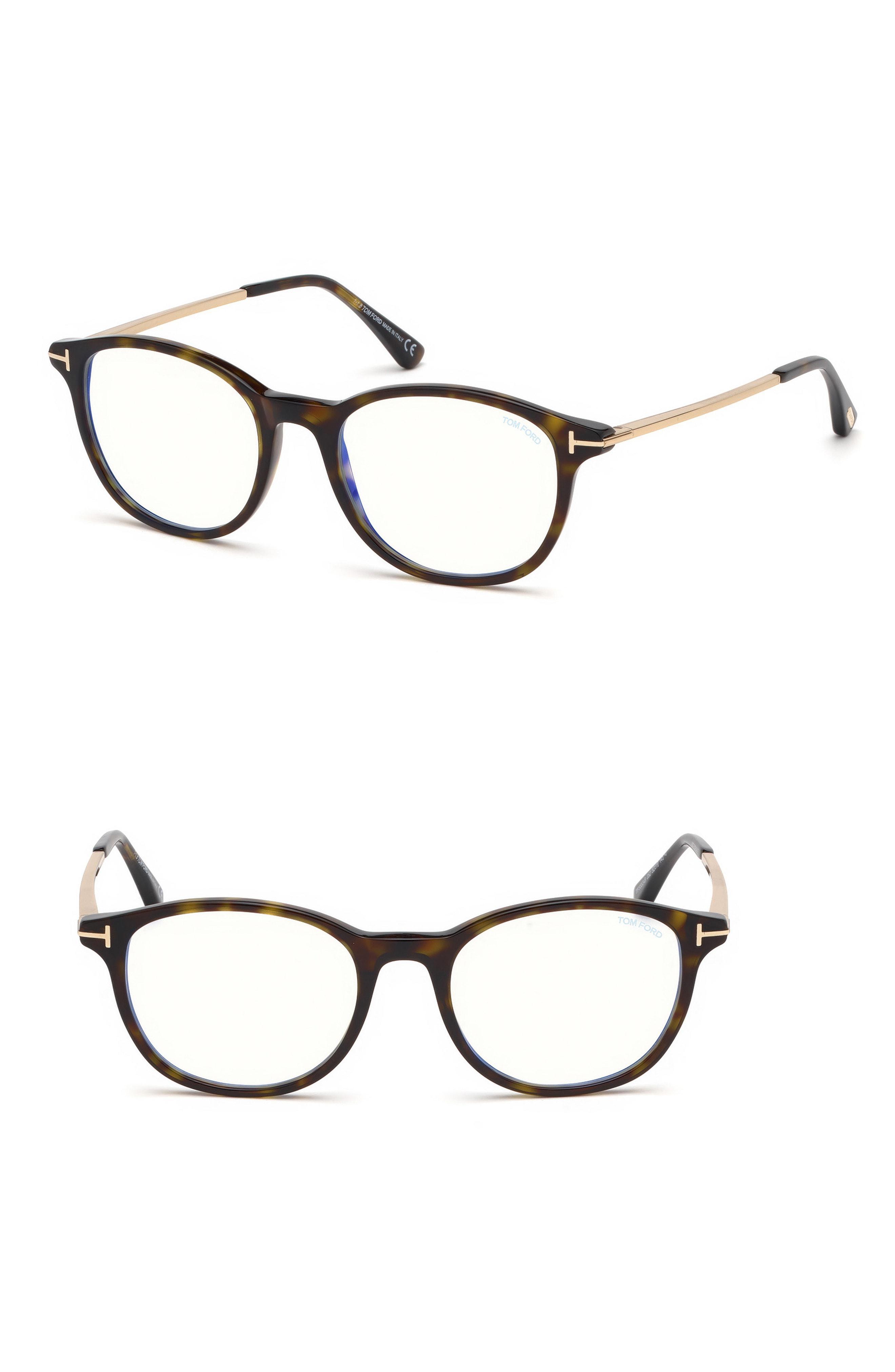 9e309897824 Lyst - Tom Ford 50mm Blue Light Blocking Glasses - Shiny Dark Havana ...