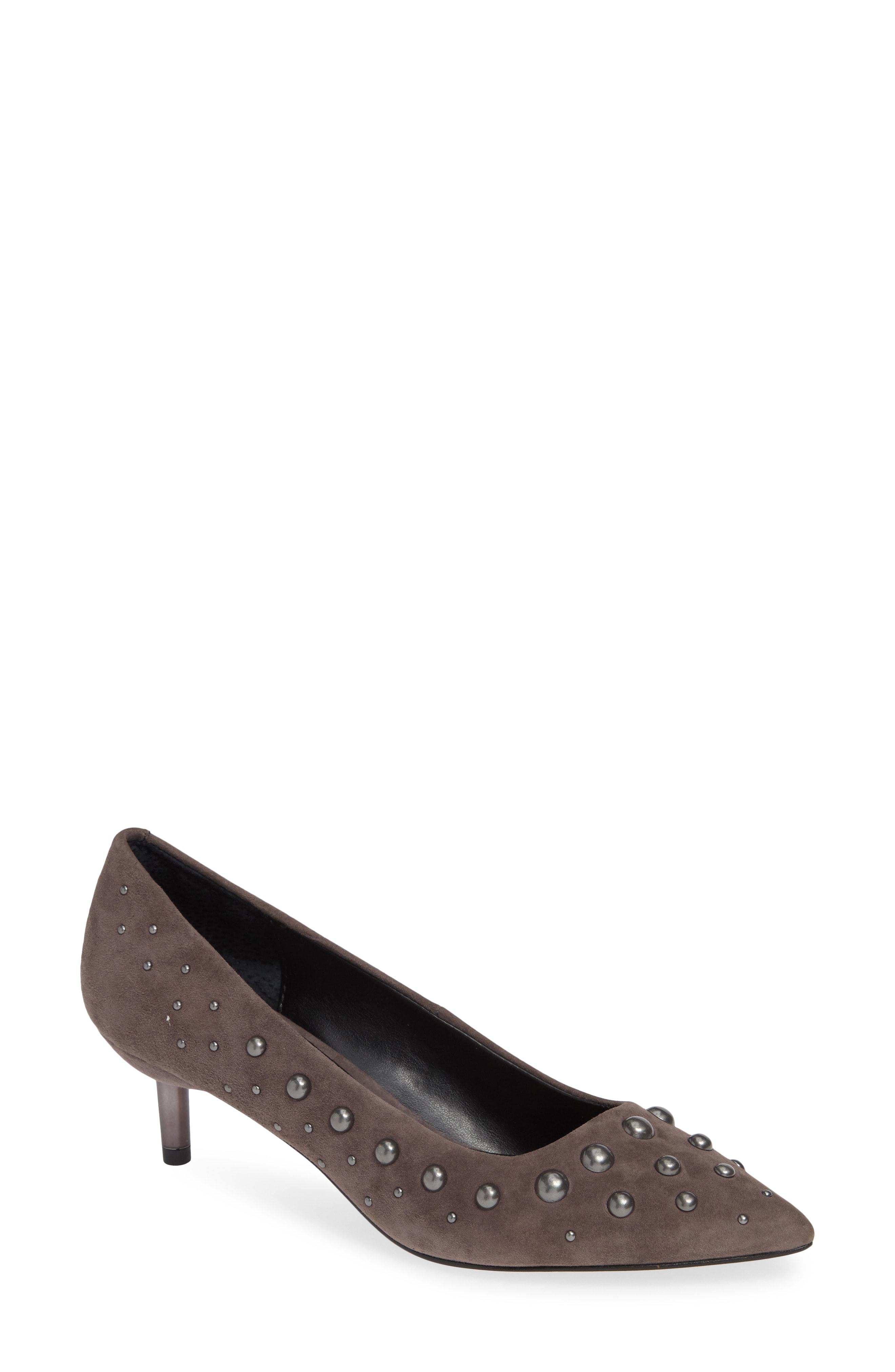 76d80804832 Lyst - Donald J Pliner Bazie Studded Pump in Gray