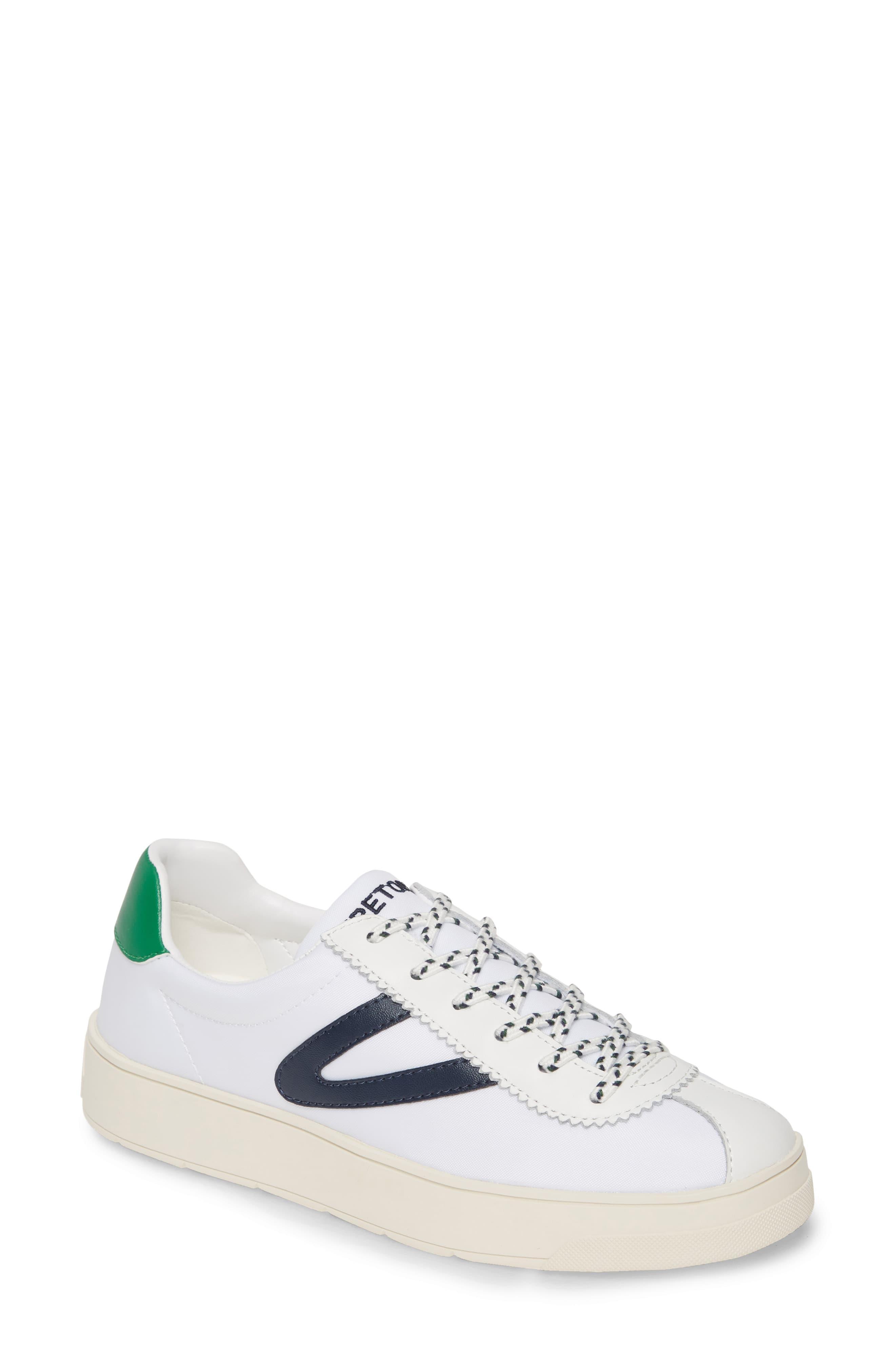 exklusiva erbjudanden 100% kvalitet Det bästa Tretorn Canvas Hayden Low Top Sneaker in Vintage White/Night/Green ...