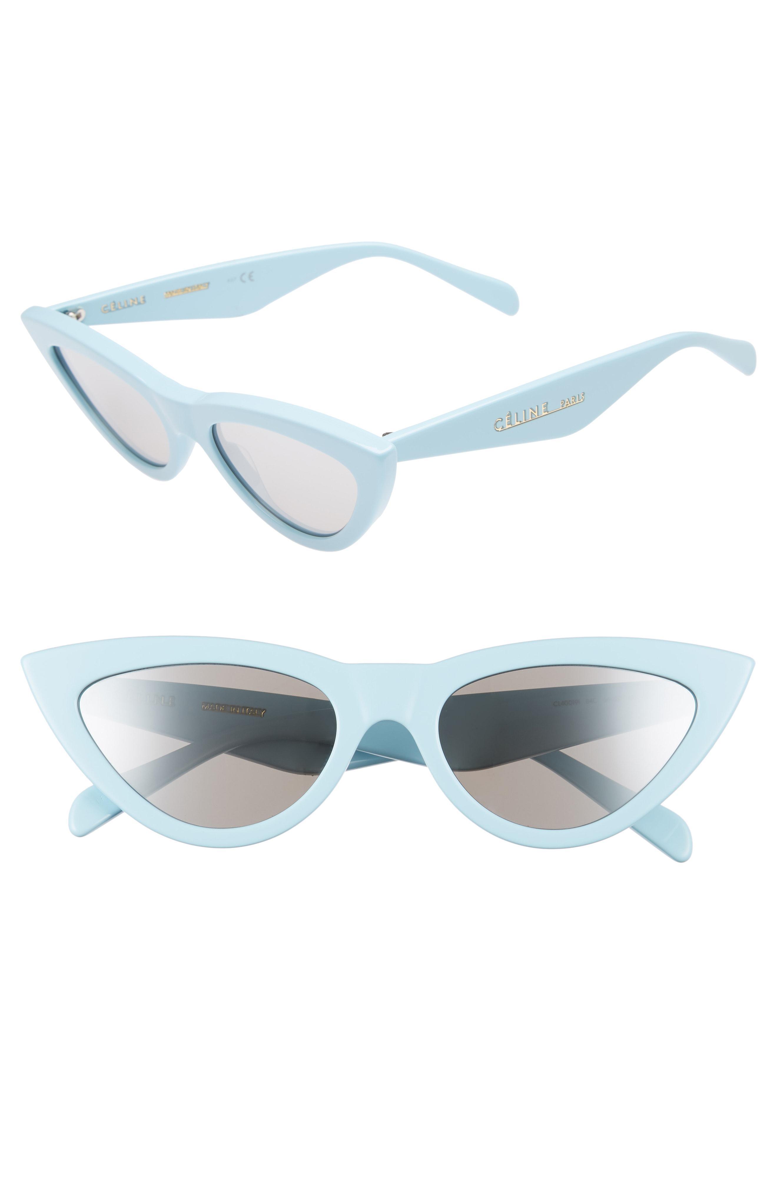 5acc041b9aa Lyst - Céline 56mm Cat Eye Sunglasses - in Blue