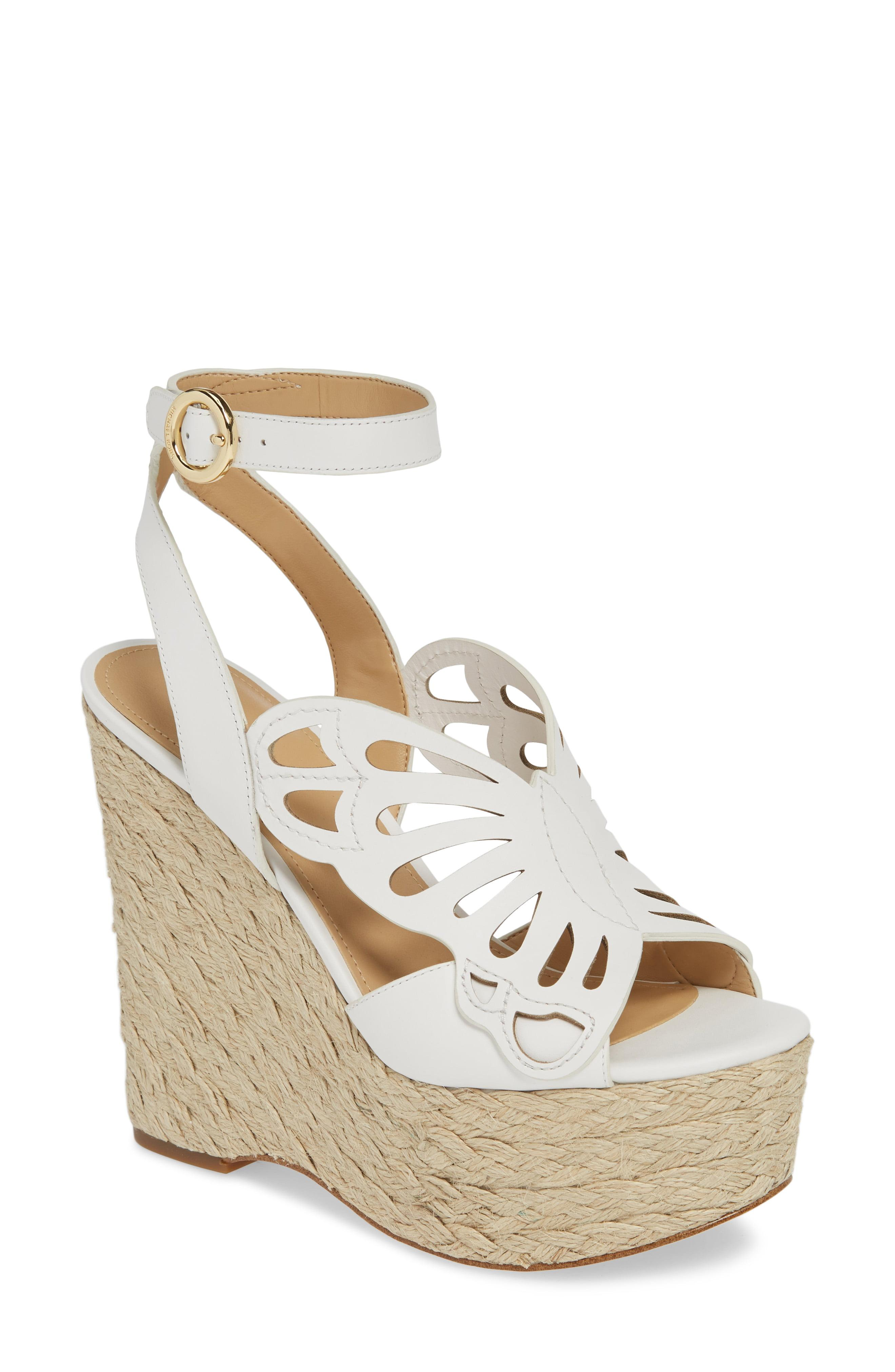4ea7ae62dce Lyst - MICHAEL Michael Kors Felicity Leather Butterfly Wedge in White