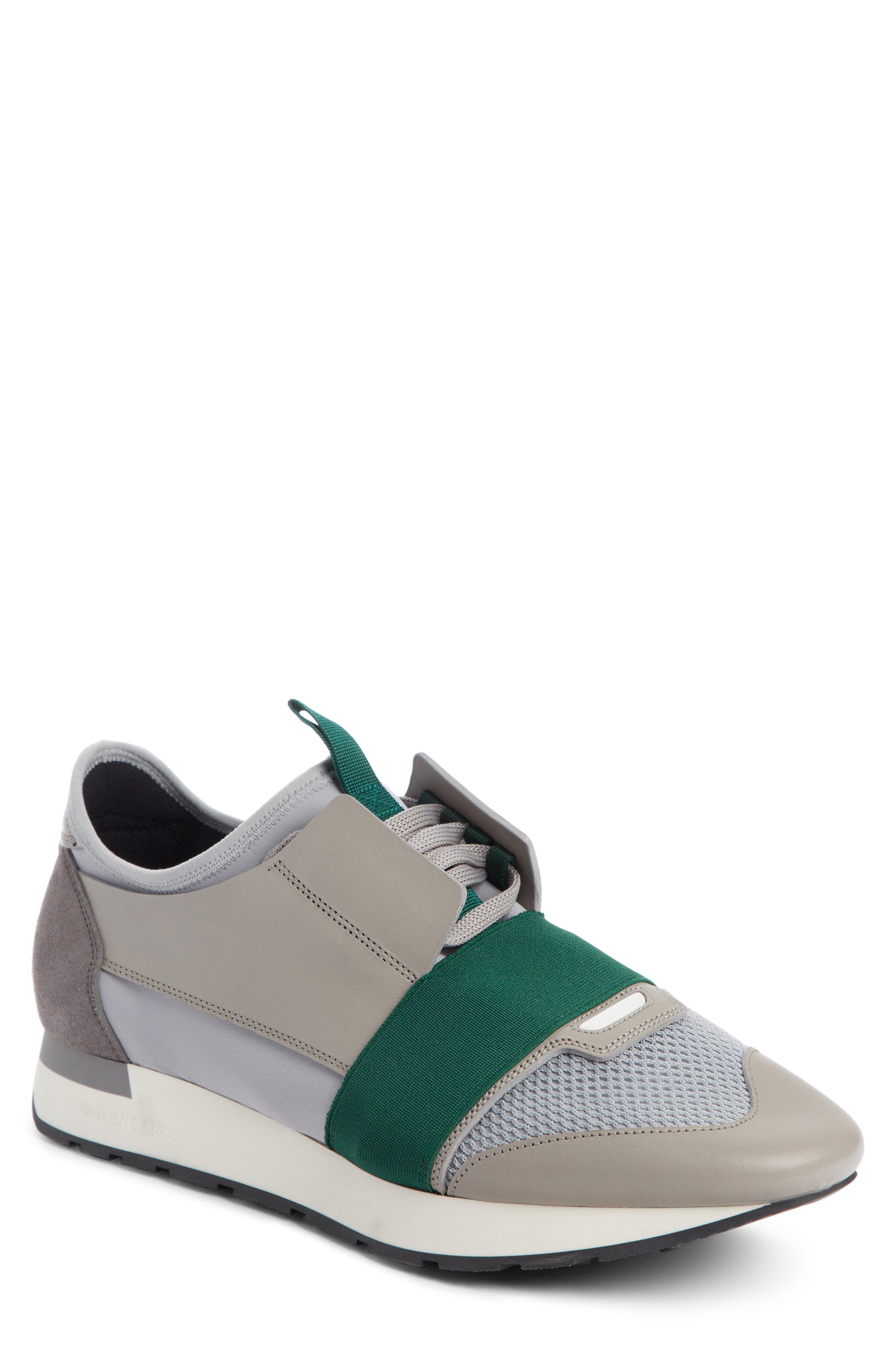 Race Runner Mesh \u0026 Leather Sneakers