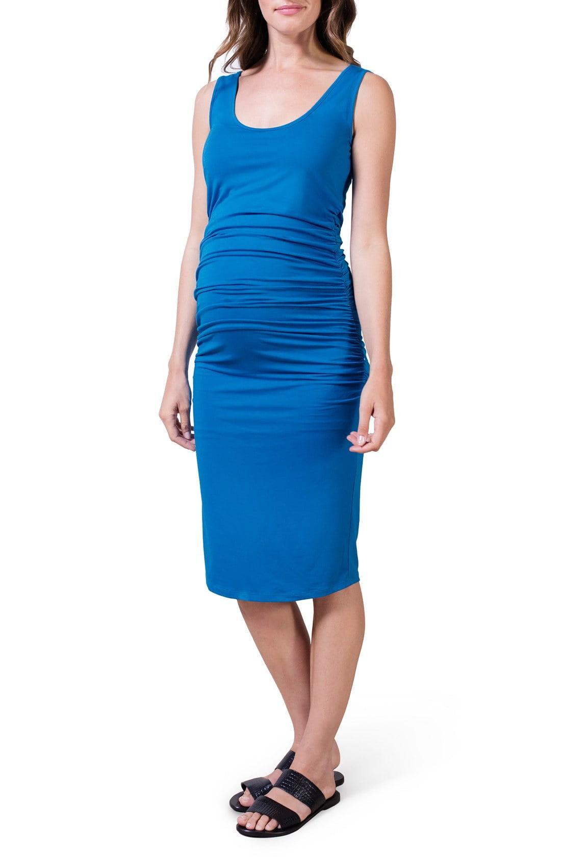c2fbb50613c Lyst - Isabella Oliver  ellis  Maternity Tank Dress in Blue