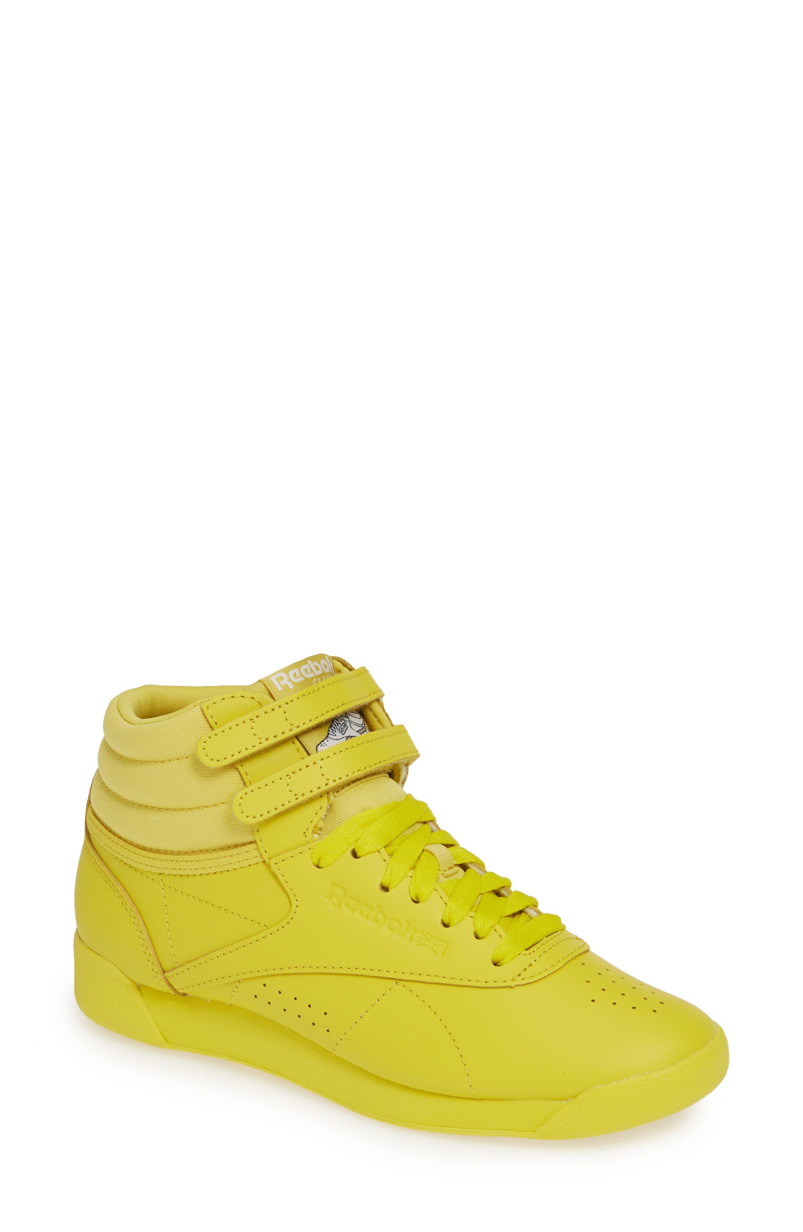 07cb8efa Reebok Yellow Freestyle Hi Sneaker