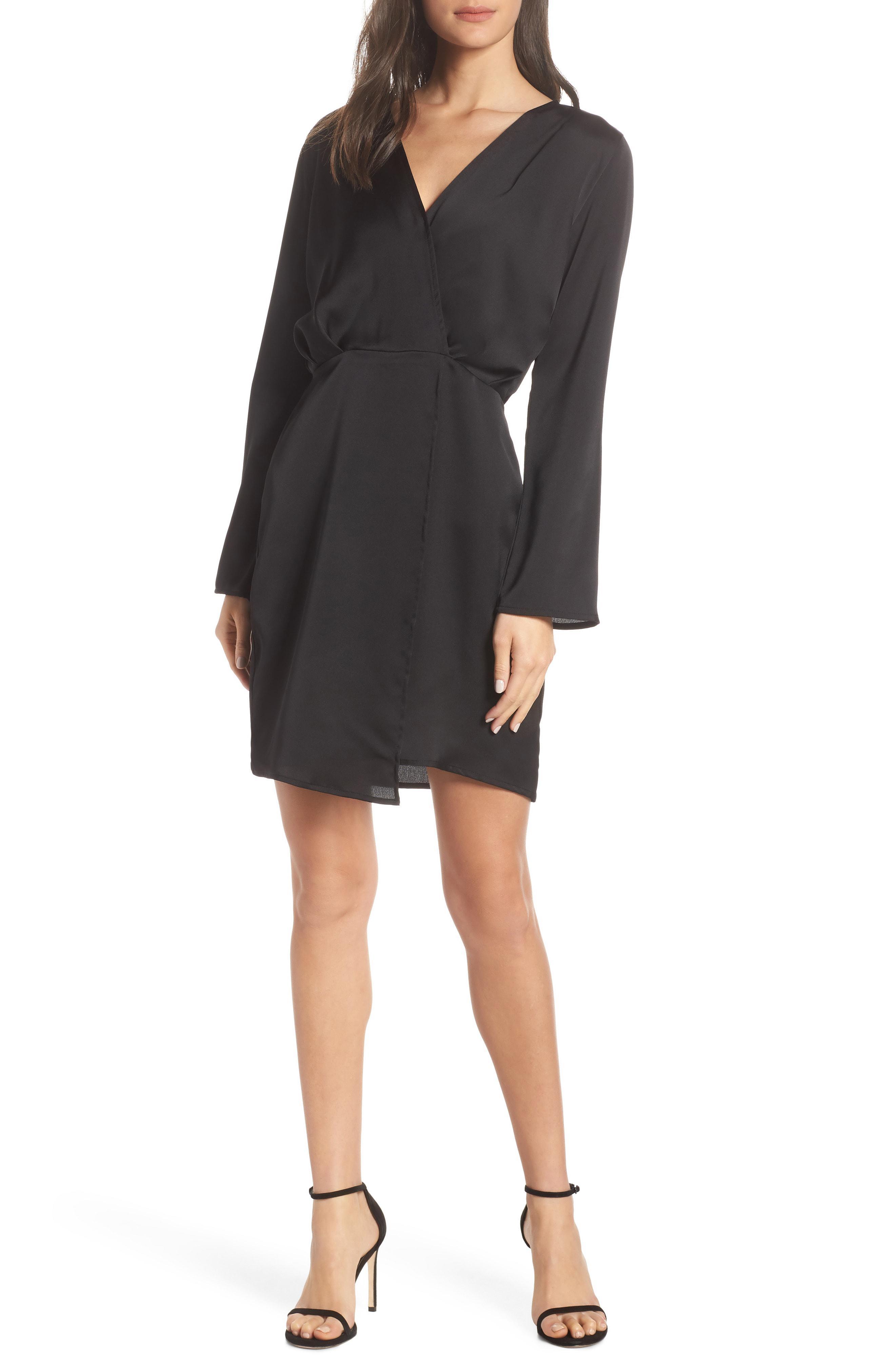 929db93fff7d Lyst - Fraiche By J Satin Dress in Black