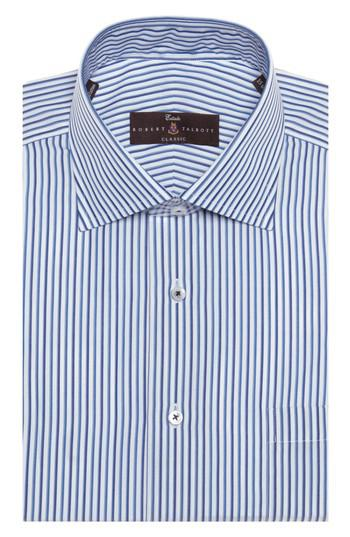 Lyst robert talbott tailored fit stripe dress shirt in for Nordstrom custom dress shirts