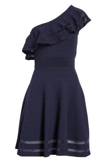 8b406f27d9 Lyst - Ted Baker Streena Knit Skater Dress in Blue