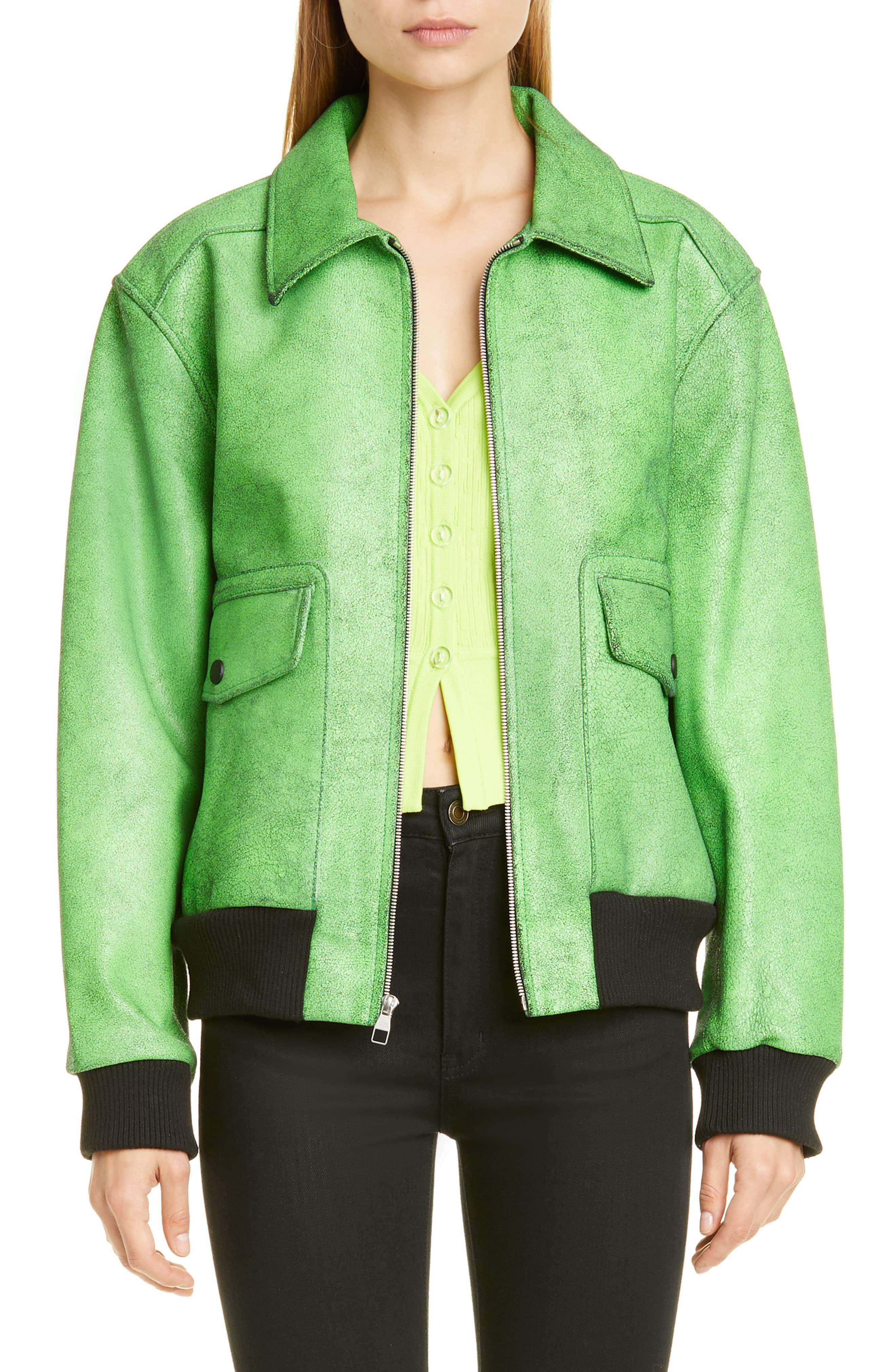 f87cd7ae9 Simon Miller Arno Leather Aviator Jacket in Green - Lyst