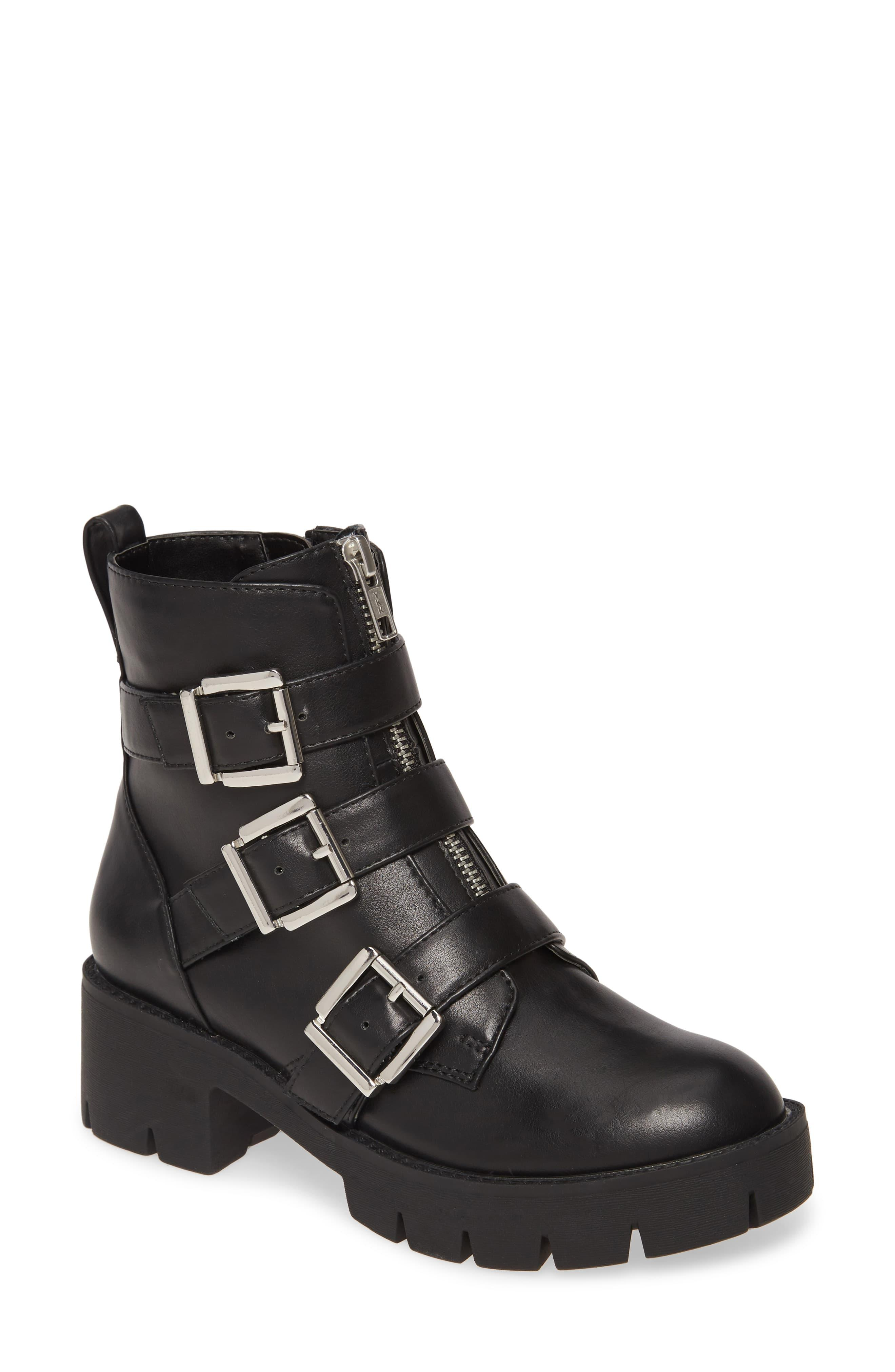 Lilley Girls Black Silver Zip /& Tassel Ankle Boot