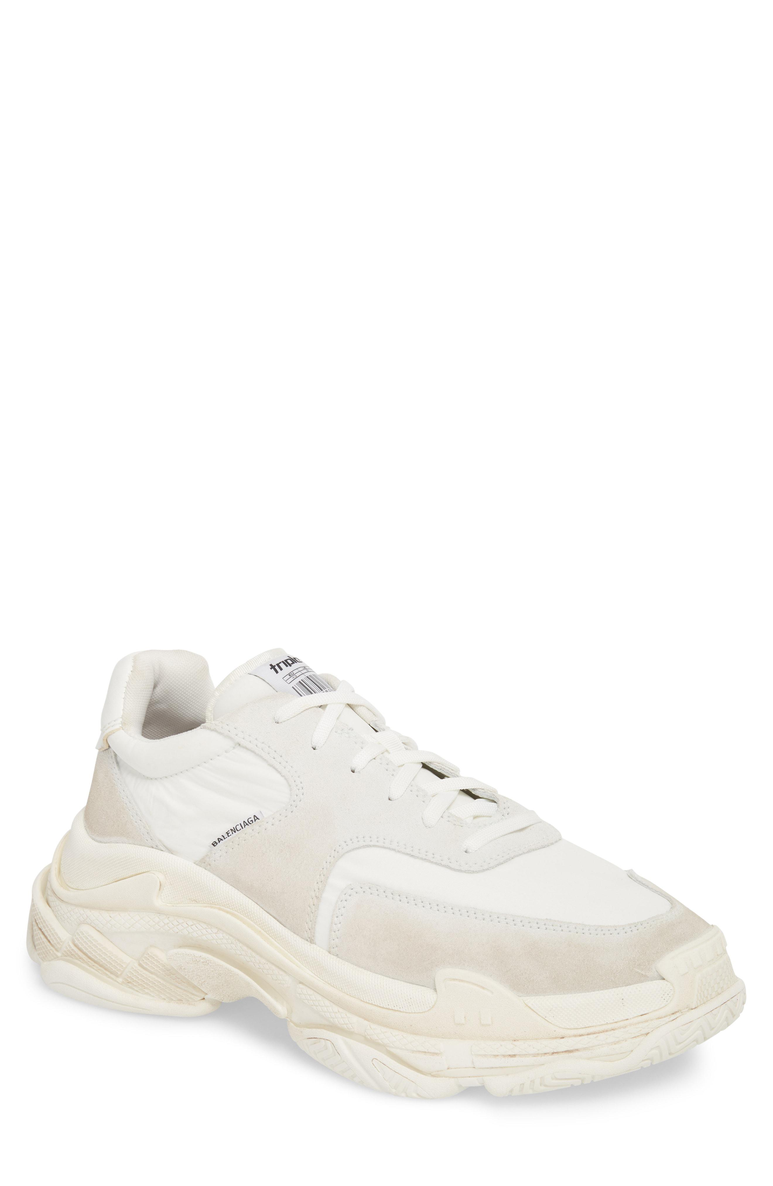 f7e2ee01fbd531 ... shoes peach red cool grey yellow running 99c34 343ce  germany balenciaga  white triple s retro sneaker for men lyst. view fullscreen 6a5af 1c472