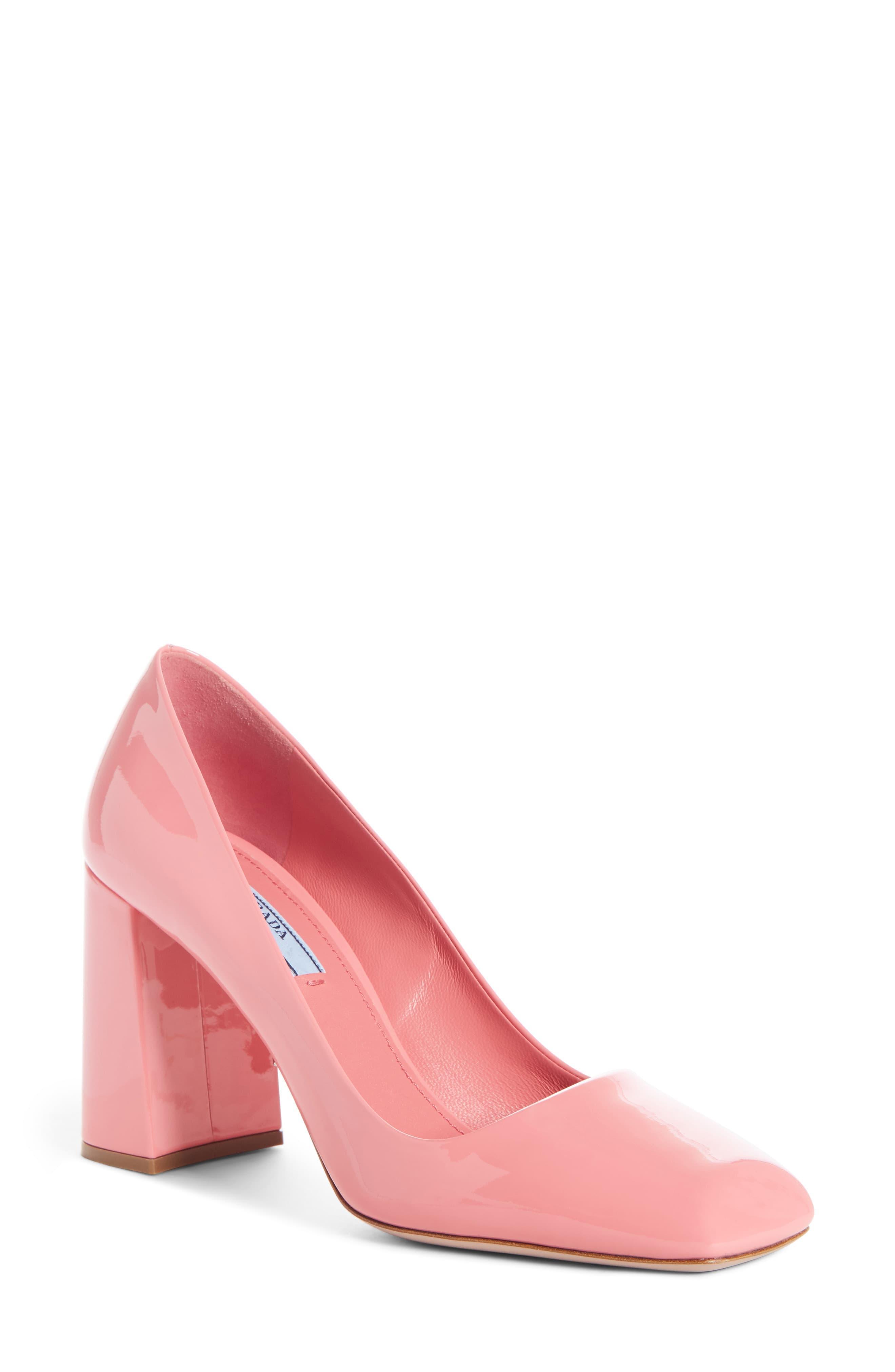prada pink pumps