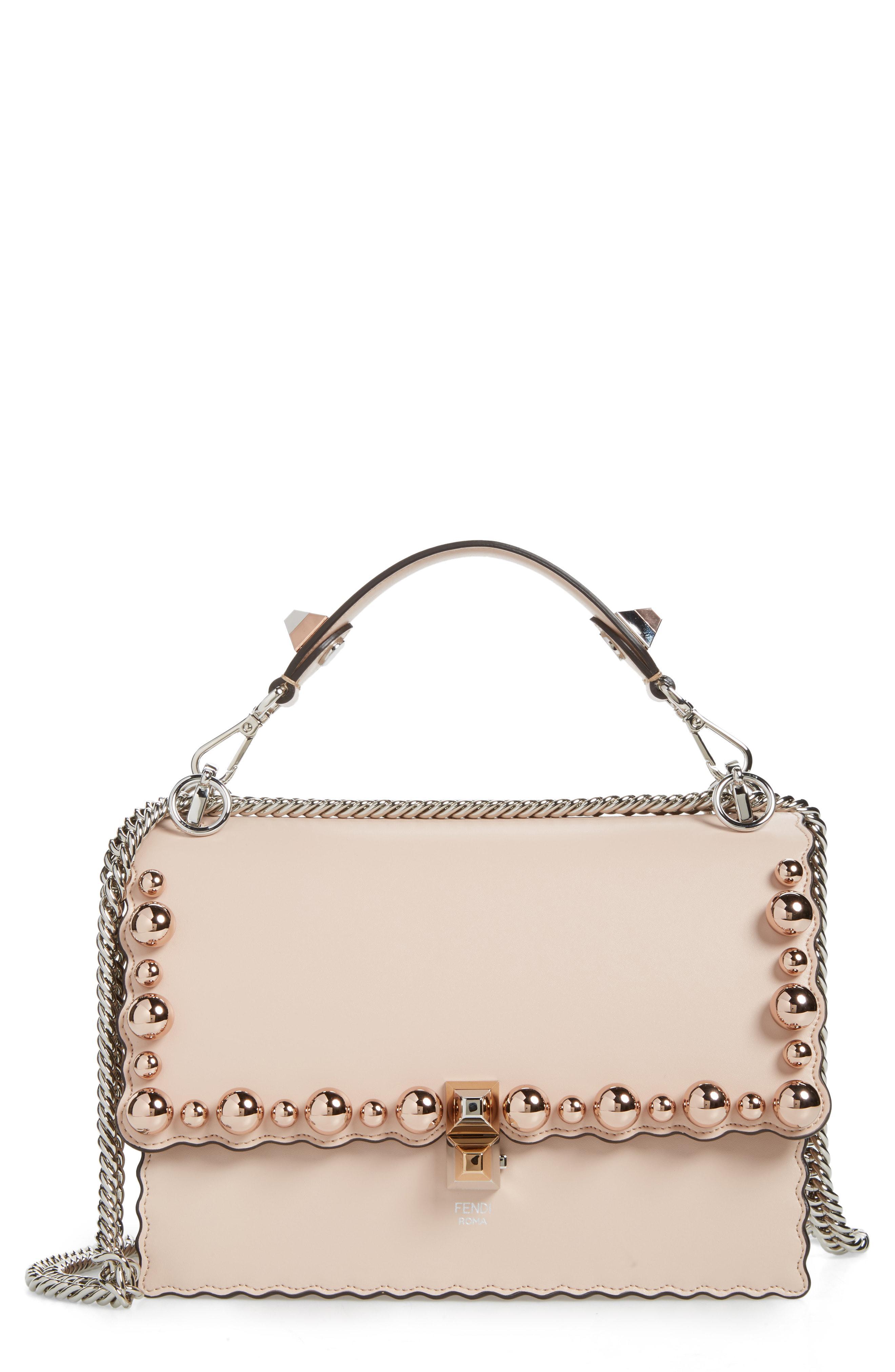bcc5c12a304d5 Fendi. Women s Mini Kan I Imitation Pearl Scallop Leather Shoulder Bag
