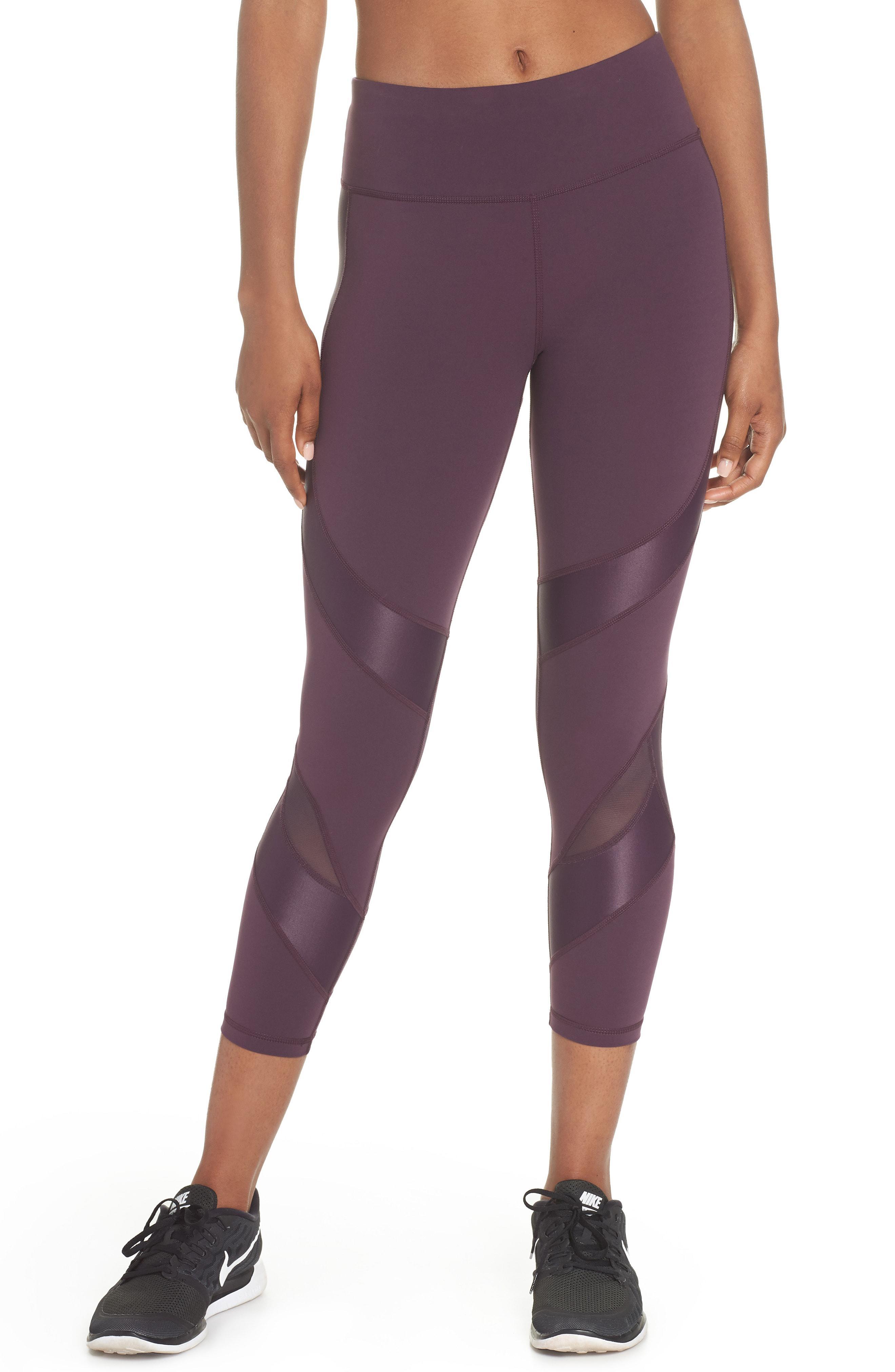 4f69a6e0b5bb8 Lyst Sweaty Betty Power Wetlook Mesh 7 8 Workout Leggings In Purple