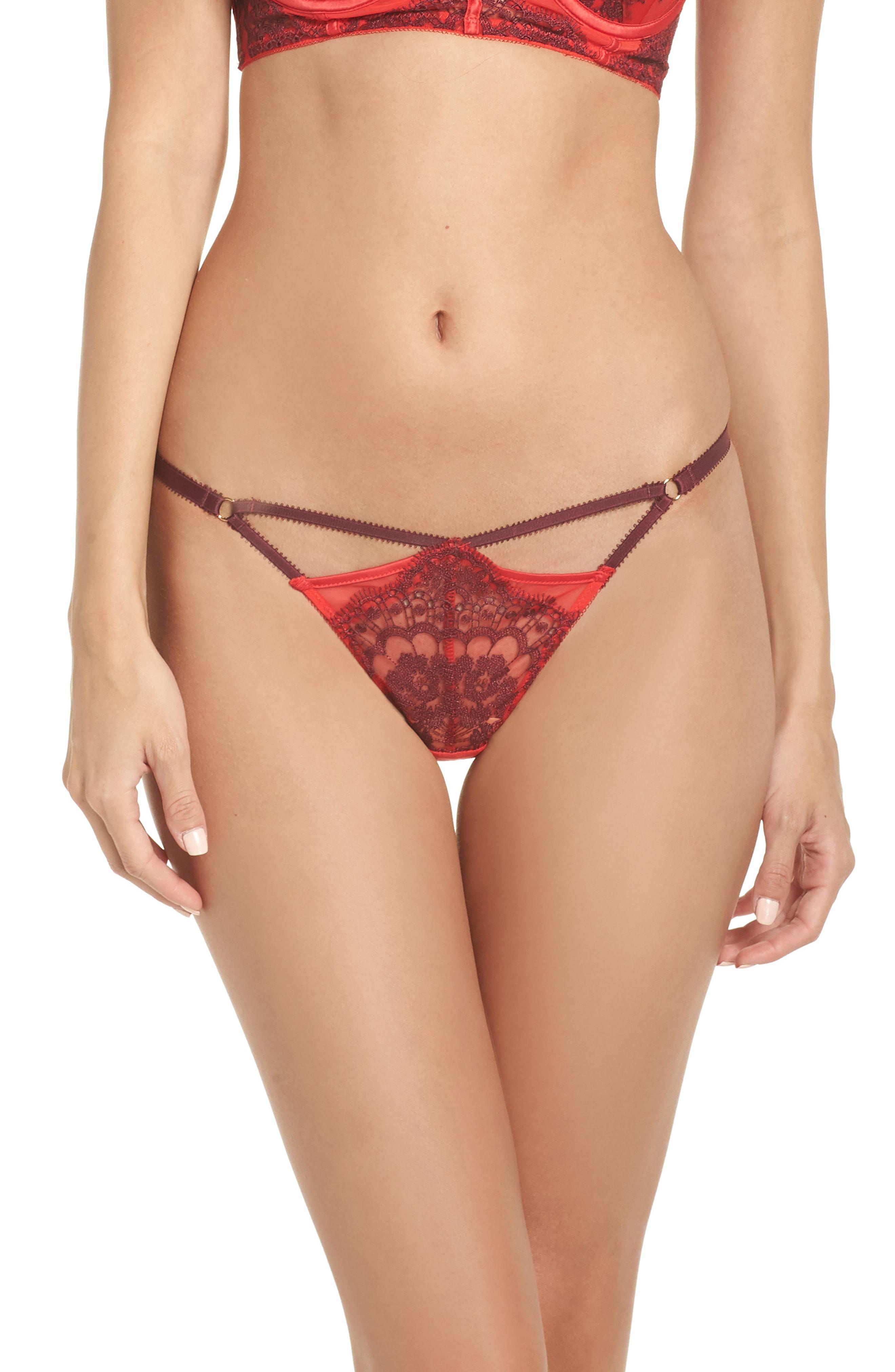 14509e80c8d6 Ann Summers Amelia Lace Thong in Red - Lyst
