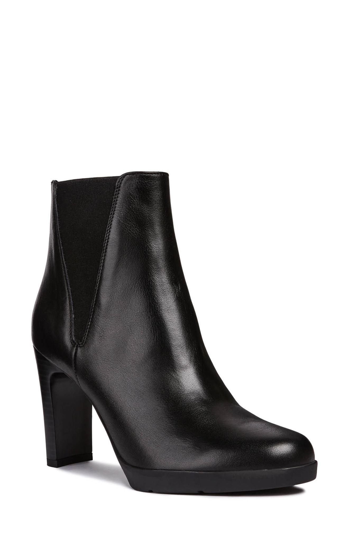 Geox Black Annya High Ankle Boot D84aeh