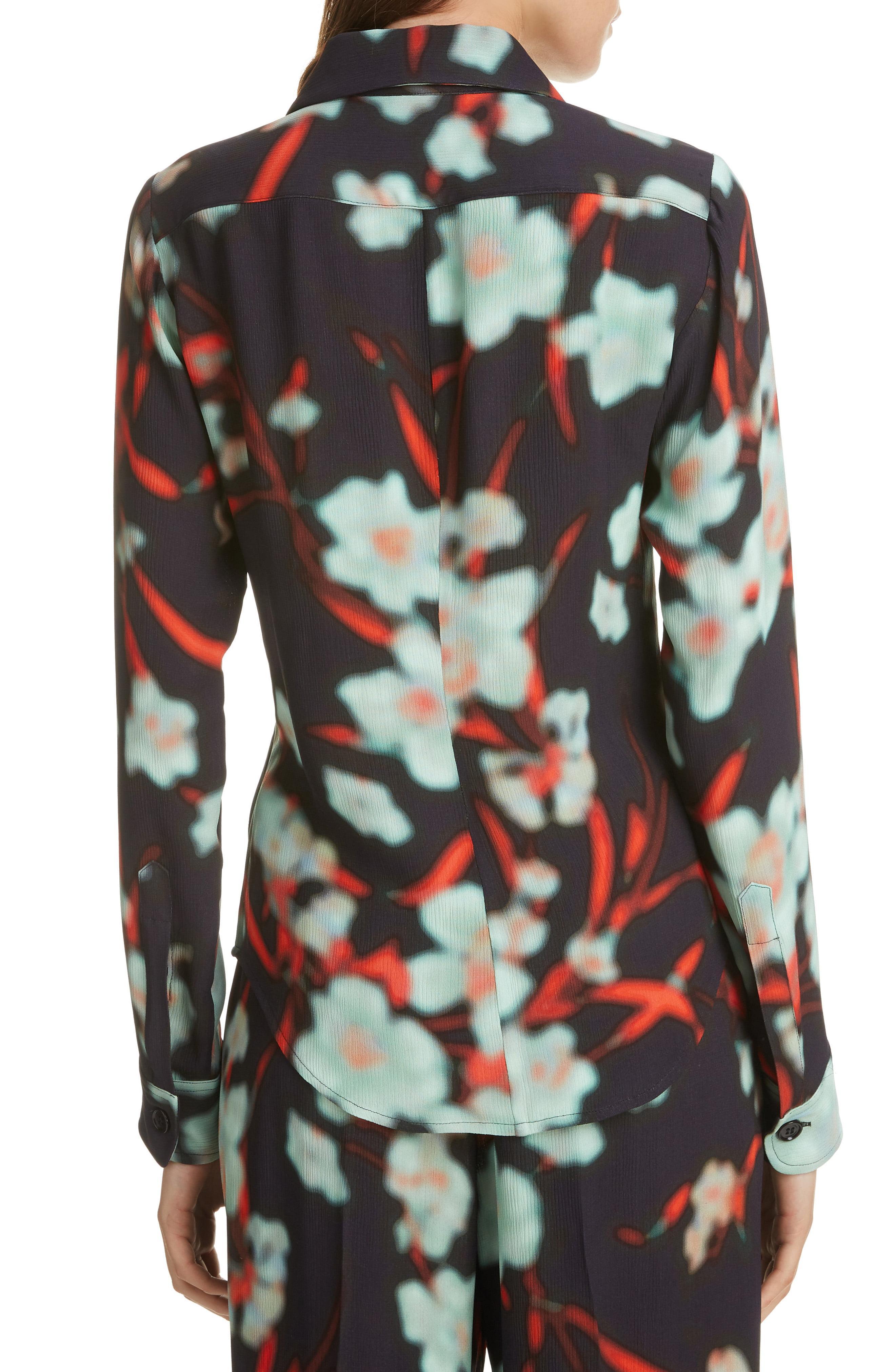 1ddee7a6c7719 Dries Van Noten - Black Dires Van Noten Crinkled Floral Print Shirt - Lyst.  View fullscreen