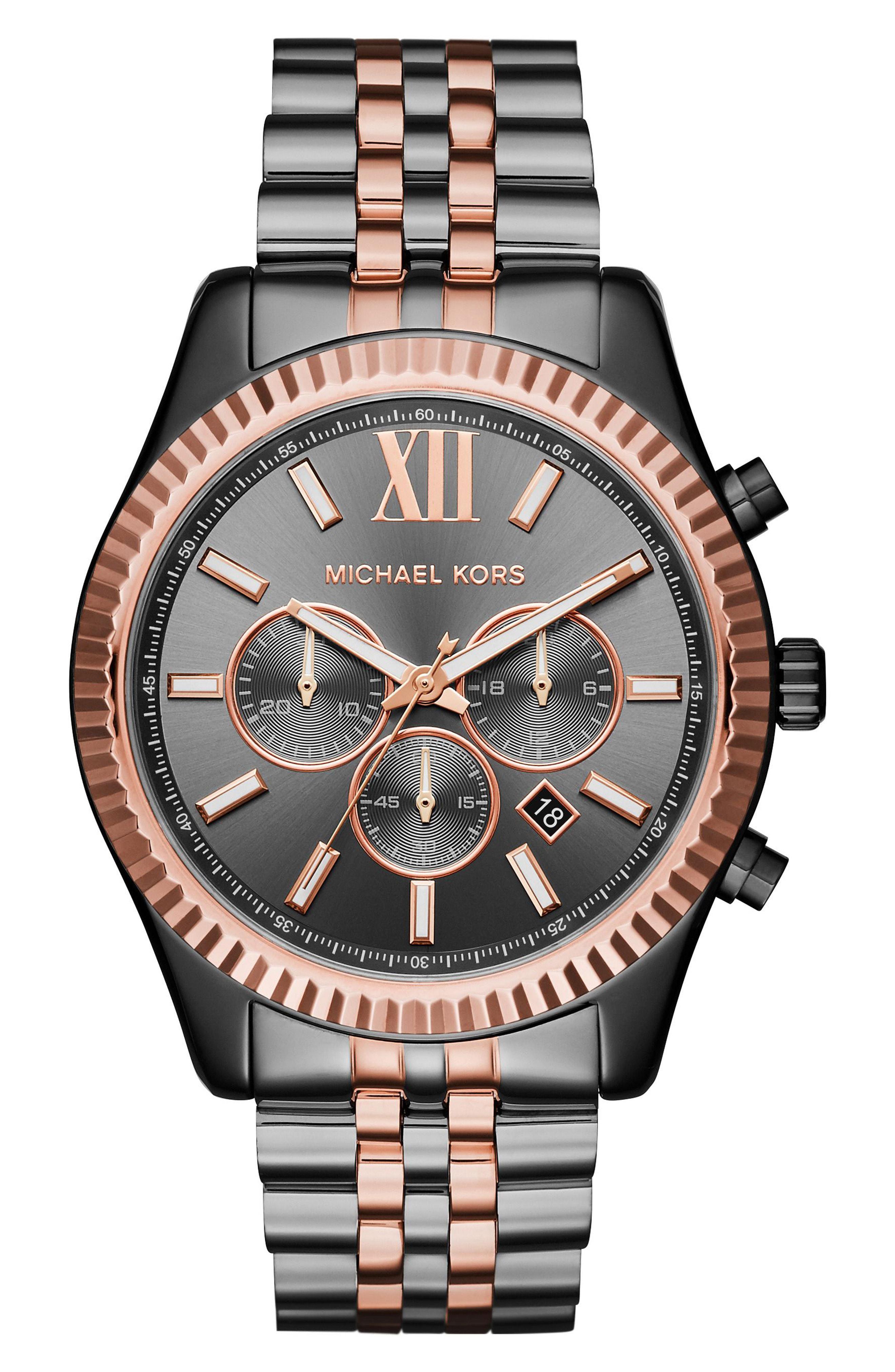9f321c445aae Michael Kors - Metallic  lexington  Chronograph Bracelet Watch for Men -  Lyst. View fullscreen