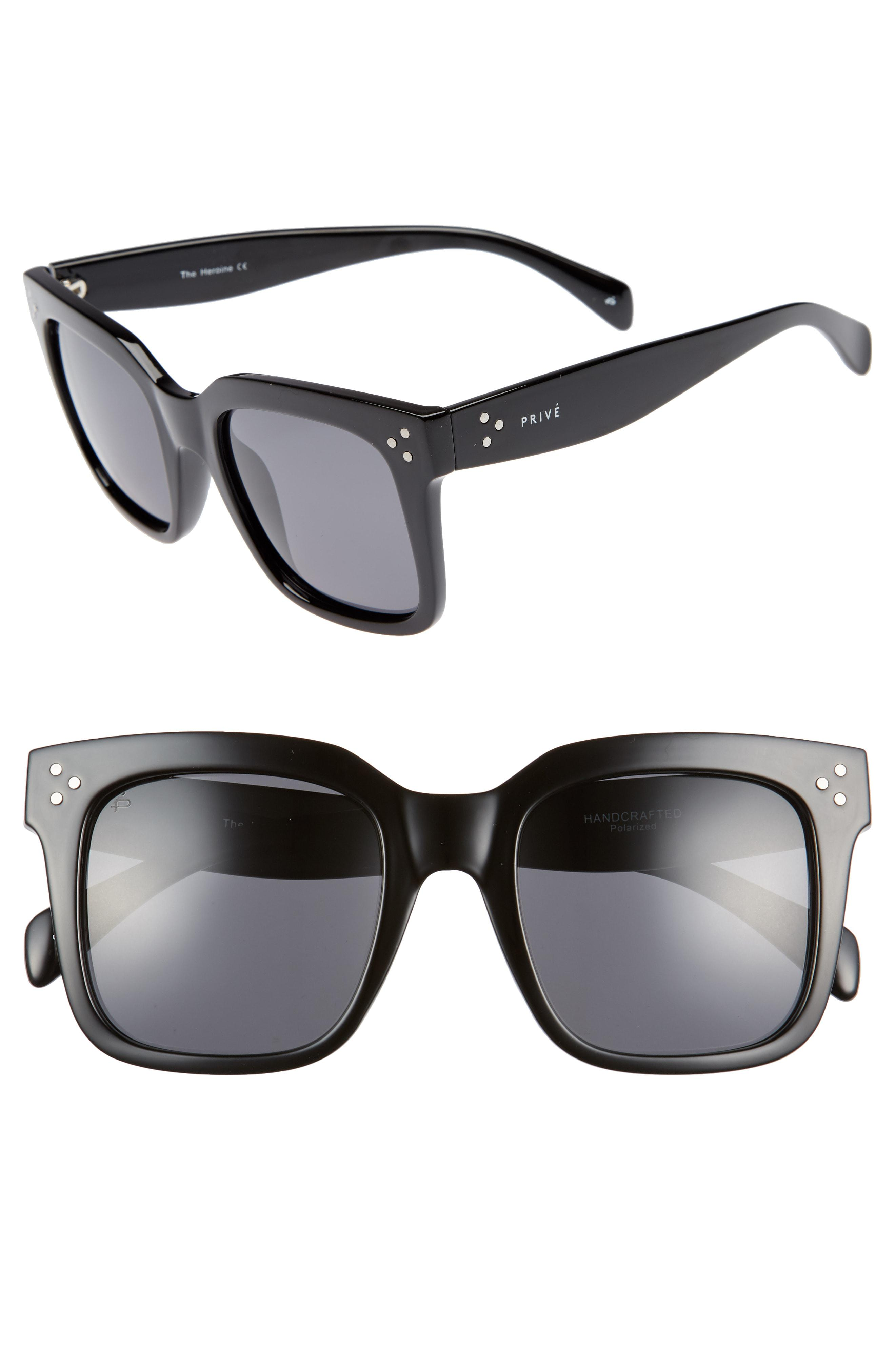 0cf63110bfa Lyst - Privé Revaux The Heroine 53mm Sunglasses in Black