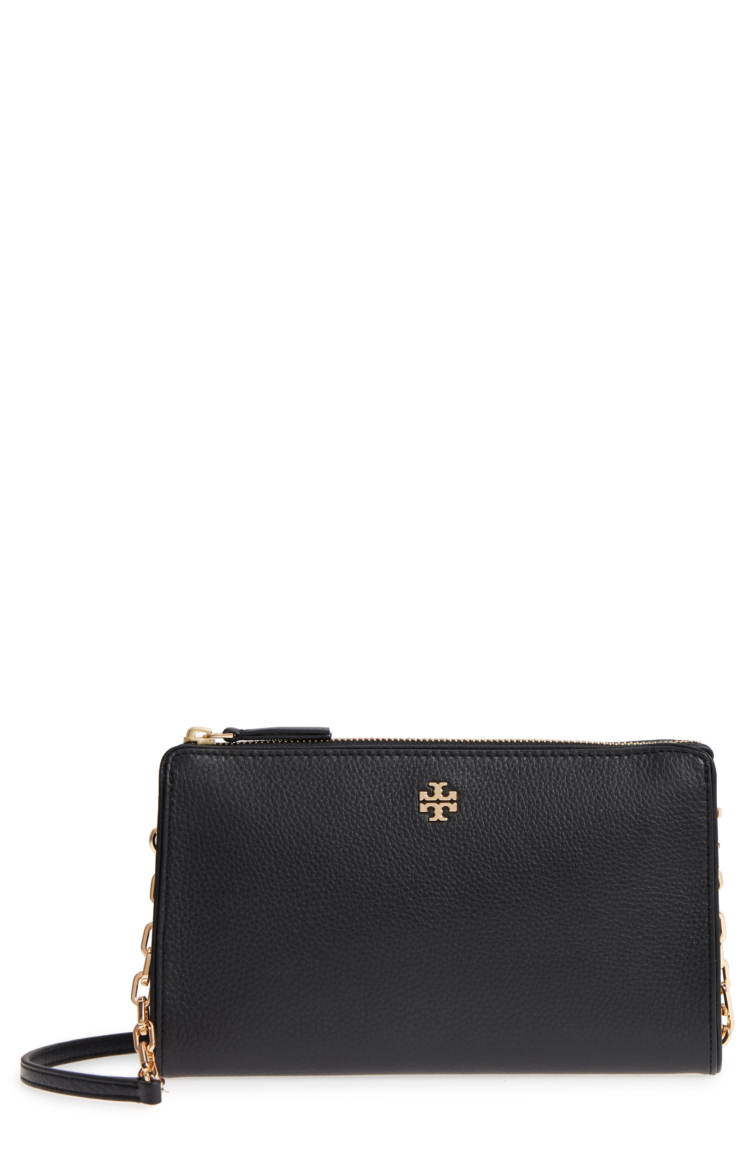 dd890c726c4 Lyst - Tory Burch Marsden Leather Wallet Crossbody Bag in Black