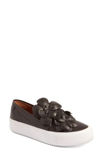 Chloé Women's Vera Floral Applique Slip-On Sneaker NQqkx28RpS
