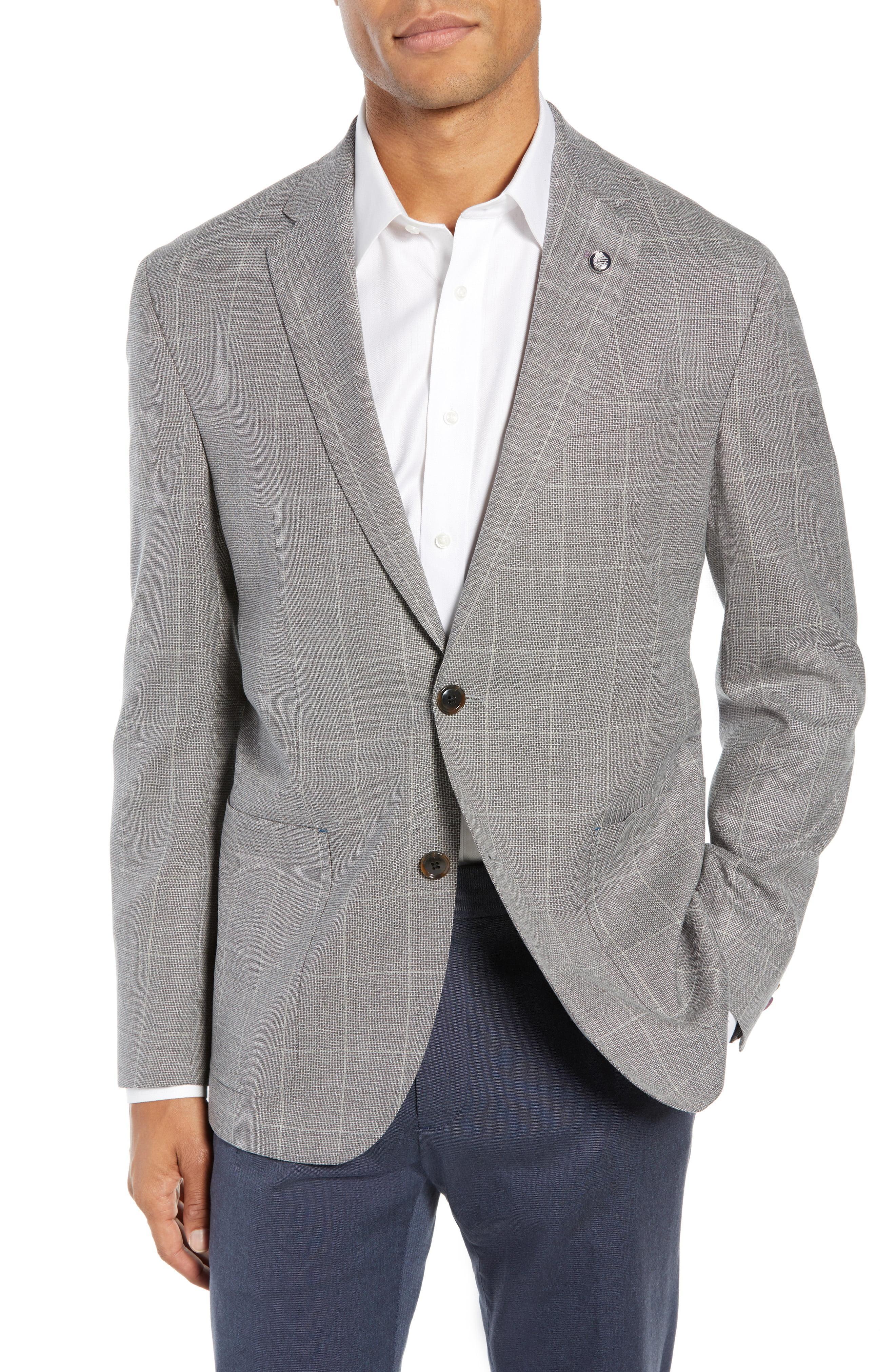 a69c7beb5e15b3 Lyst - Ted Baker Kyle Trim Fit Windowpane Wool Sport Coat in Gray ...