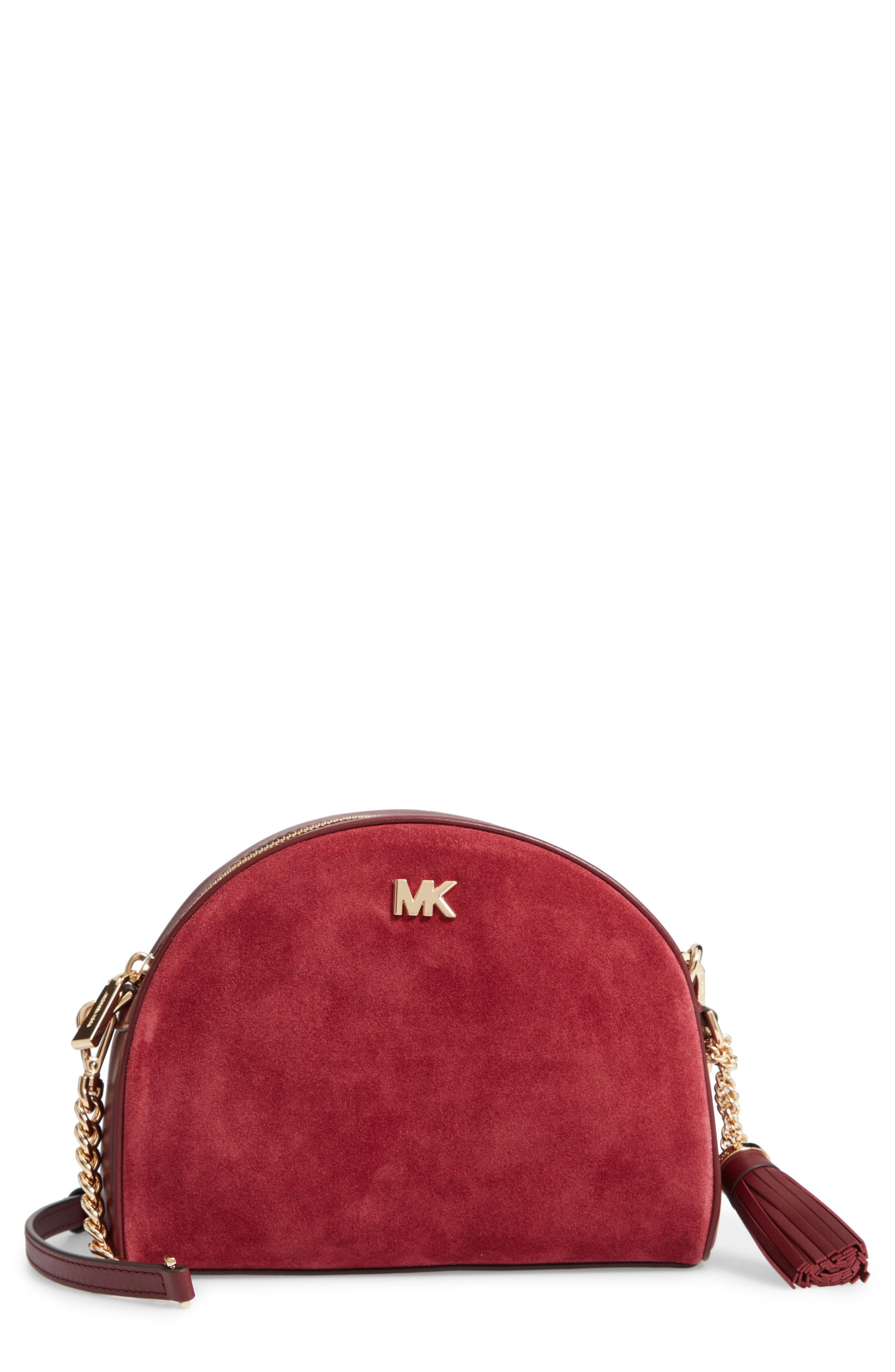 d029e21e6f4d MICHAEL Michael Kors Ginny Half Moon Leather Crossbody Bag ...
