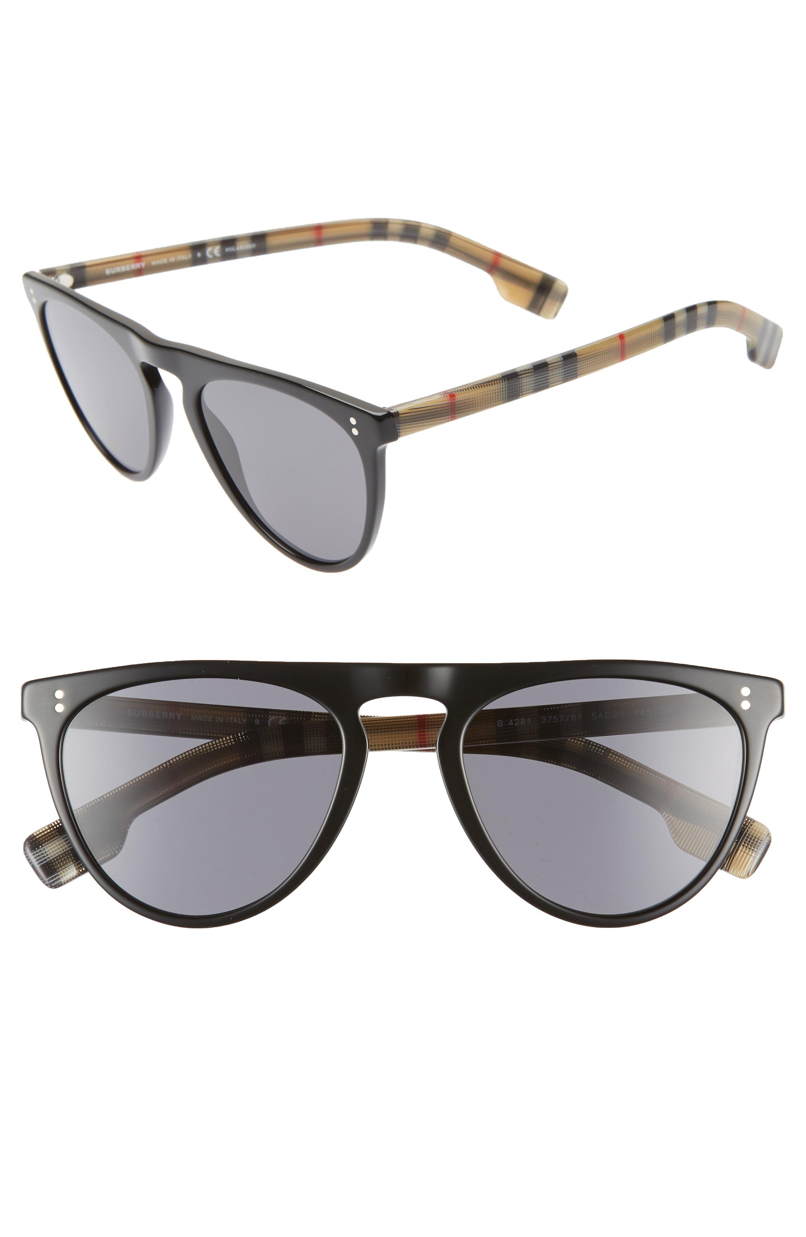 300f78191a3c Lyst - Burberry 54mm Polarized Sunglasses -