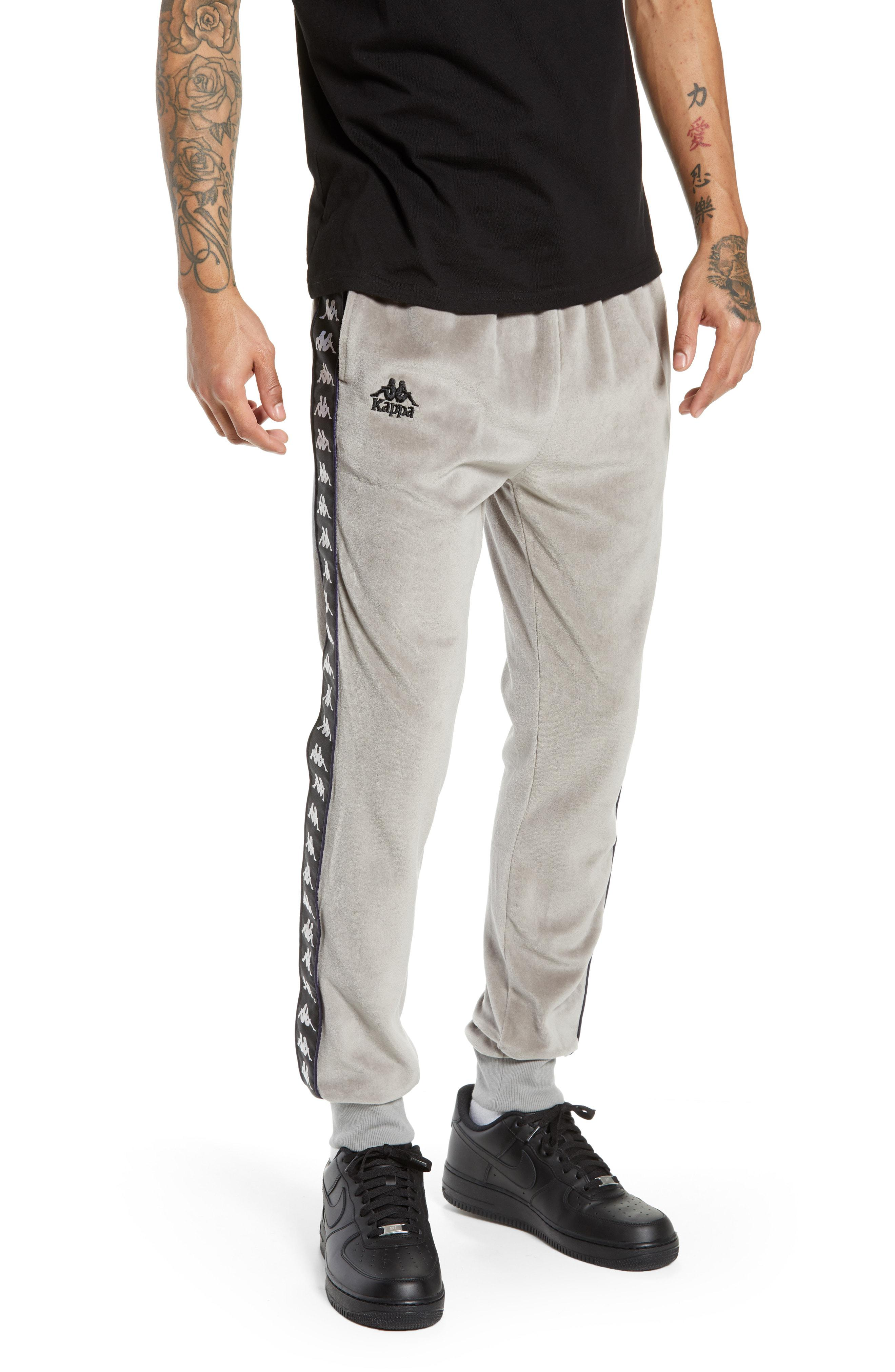 7efa50b8ef Kappa Gray Authentic Ayne Velour Sweatpants for men