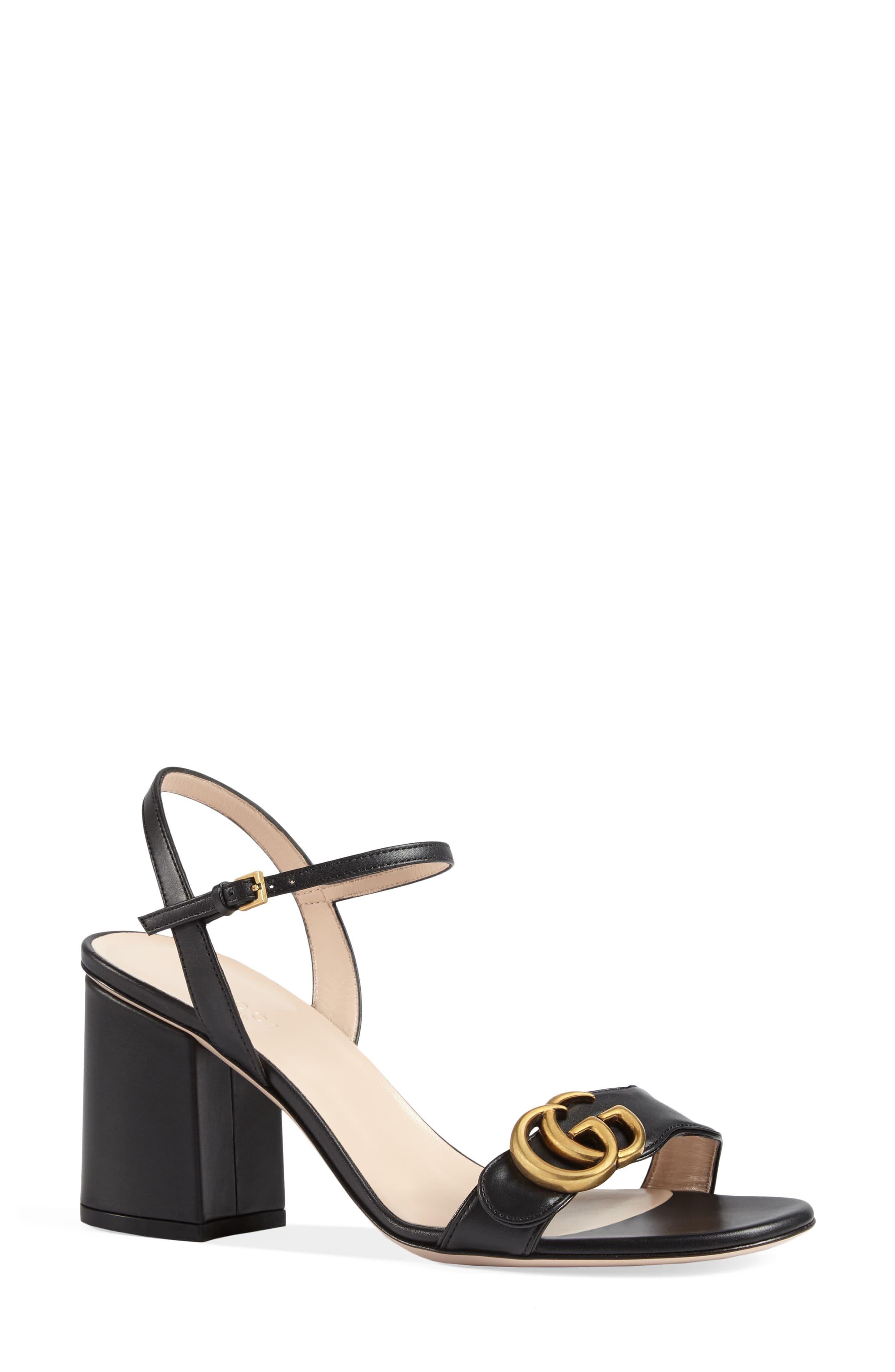 4ea3898e3 ... Gucci Black Gg Marmont Block Heel Sandals · Visit Nordstrom. Tap to  visit site