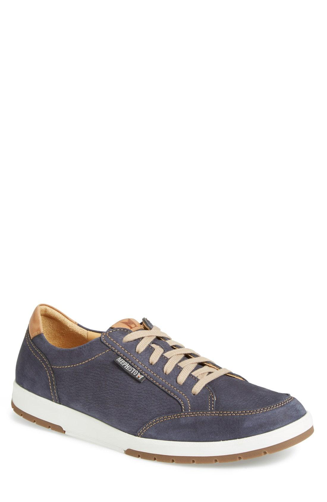 fc46a7409d4 Lyst - Mephisto  Ludo  Suede Sneaker in Blue for Men