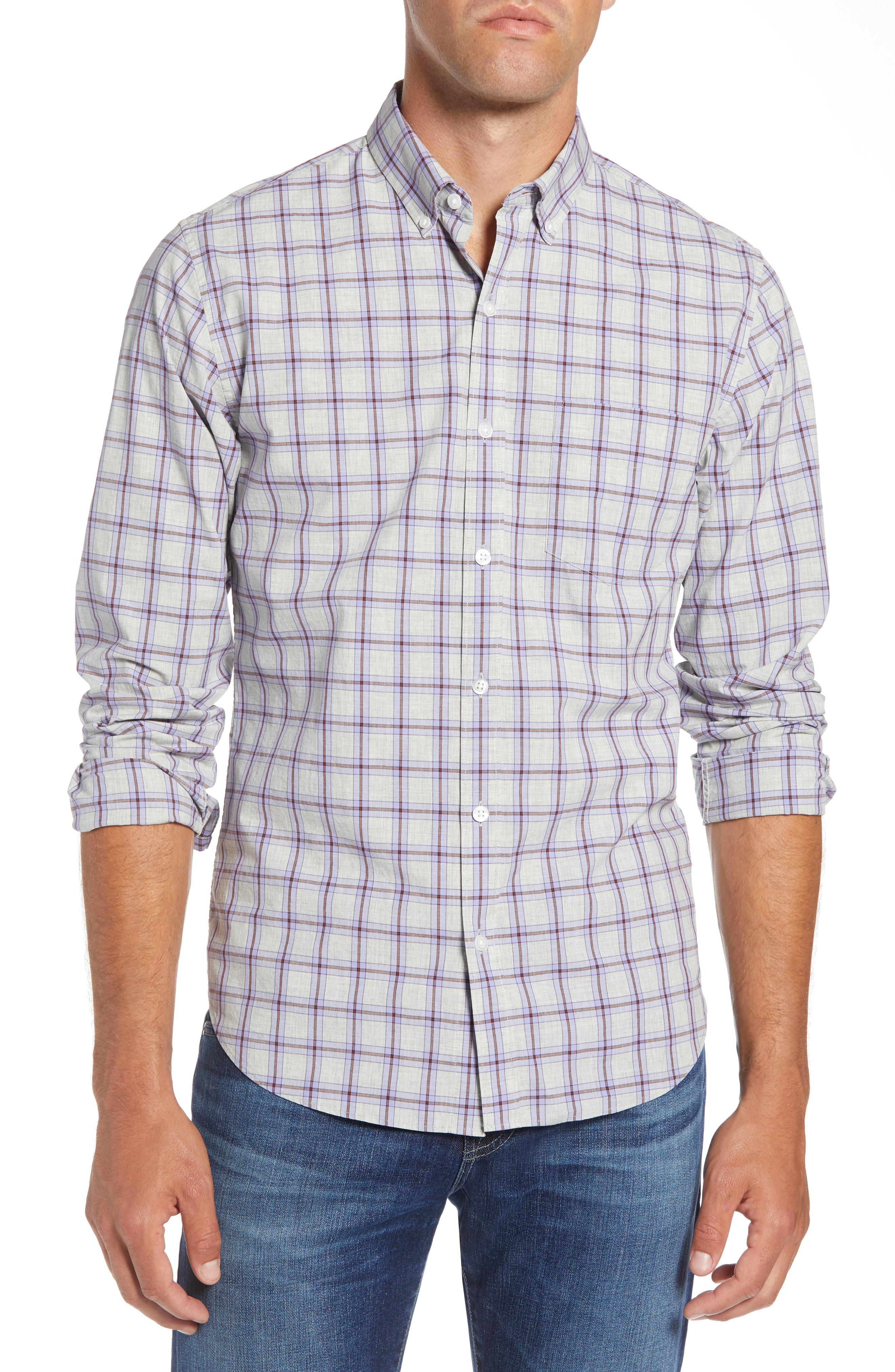 03c03bc693 Lyst - Bonobos Slim Fit Washed Check Sport Shirt in Blue for Men