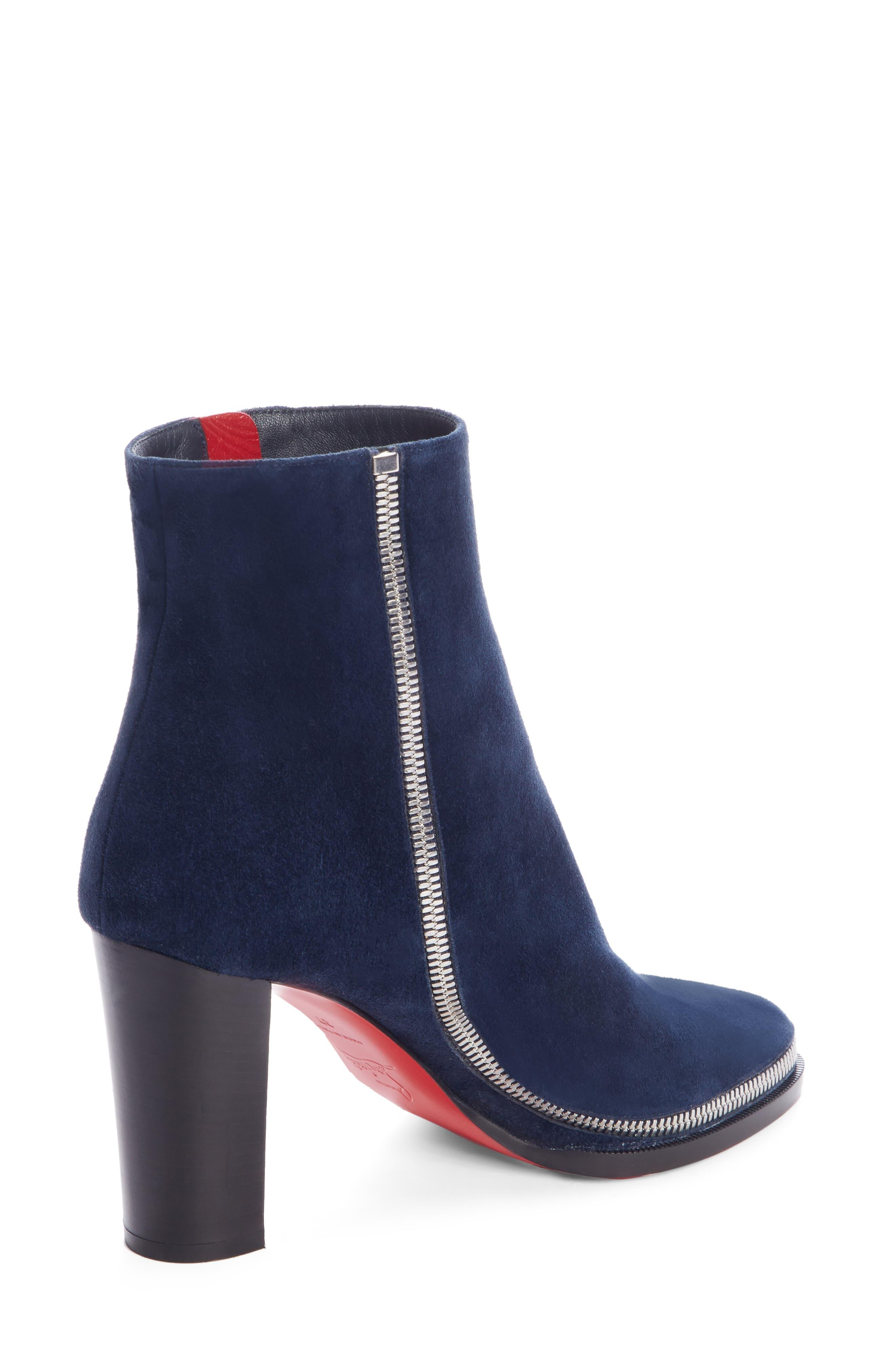 newest 482b1 70cac Christian Louboutin Blue Telezip Bootie