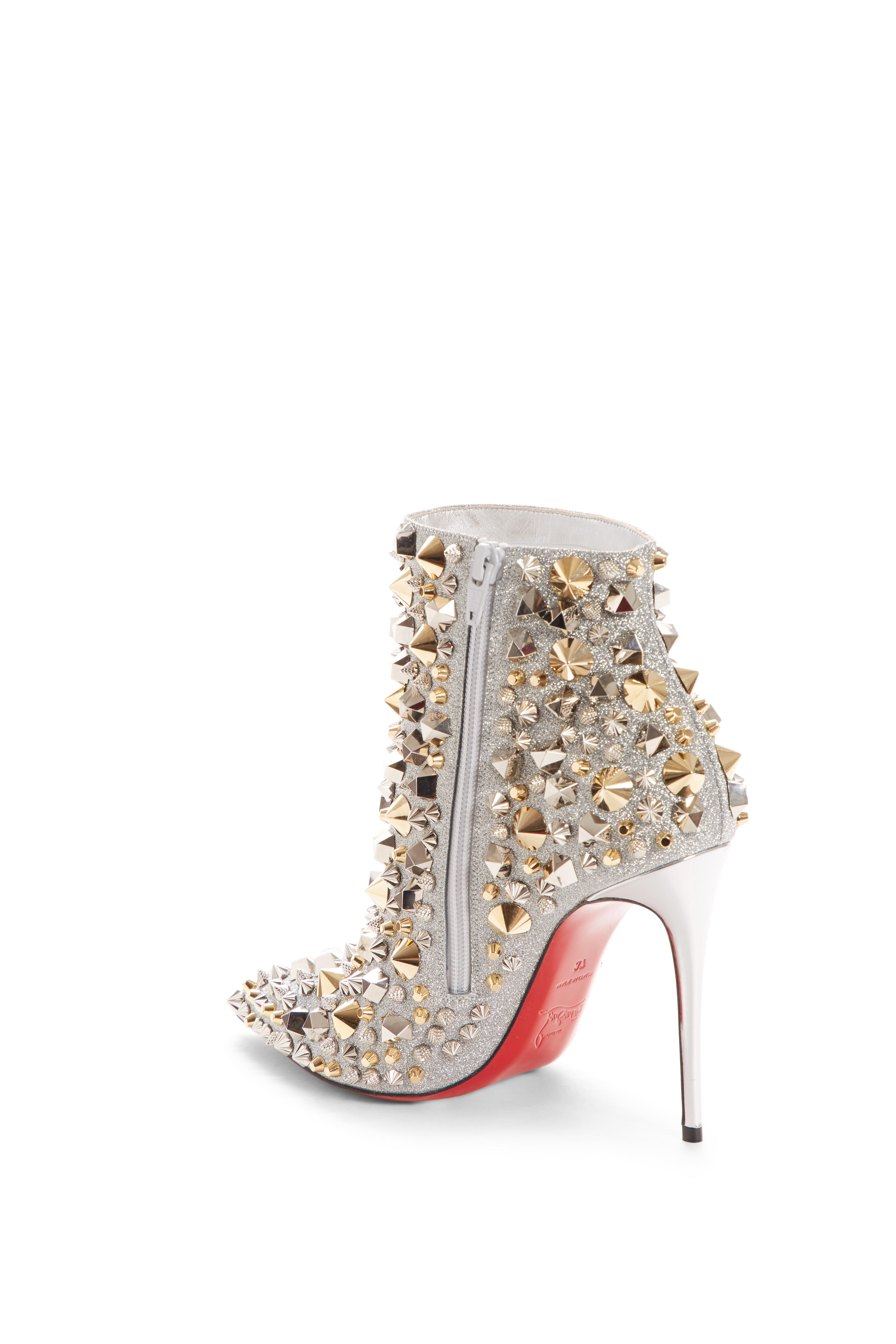 so kate studded glitter bootie
