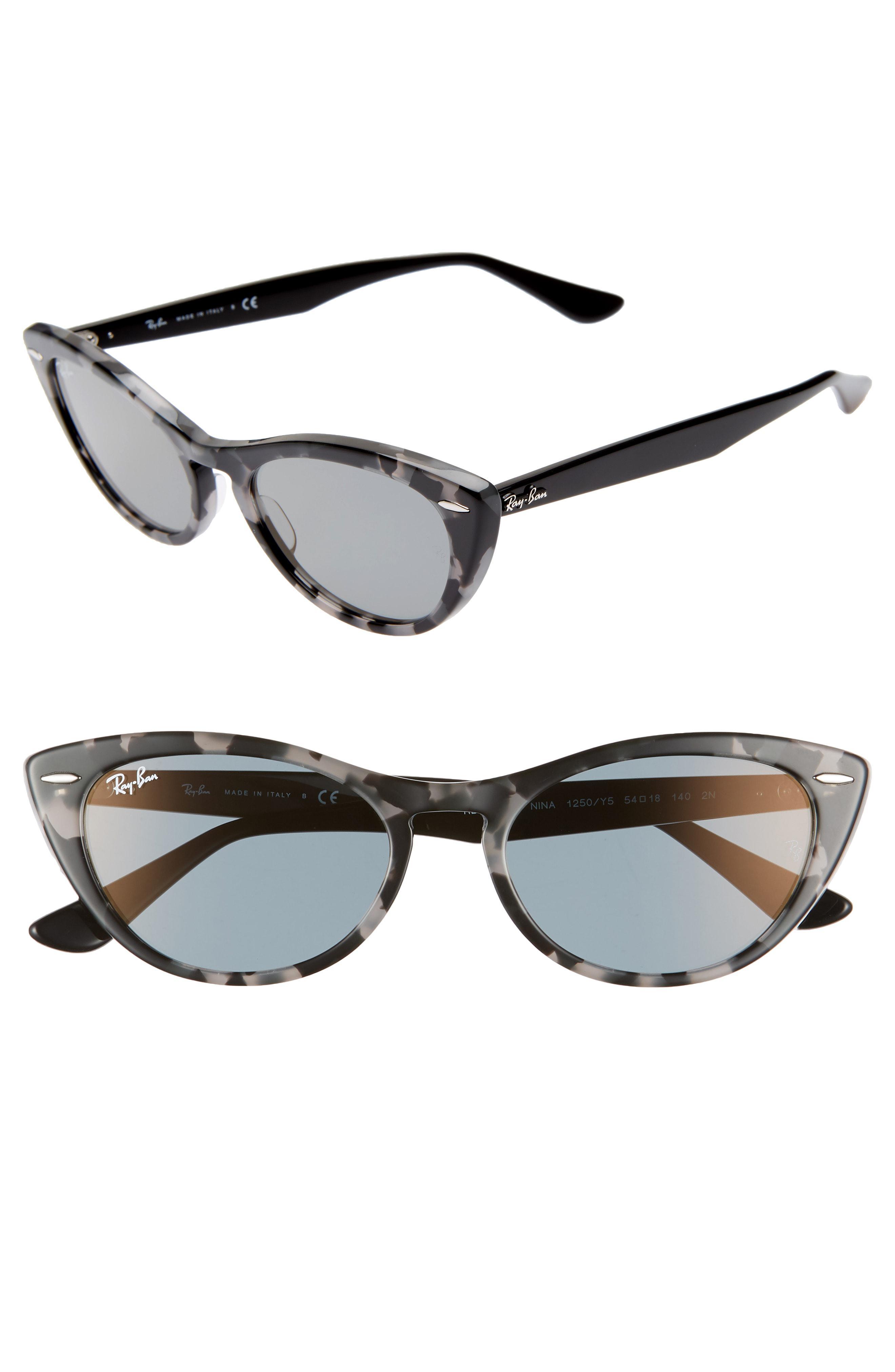 ee829d8207 Lyst - Ray-Ban Nina 54mm Cat Eye Sunglasses in Gray