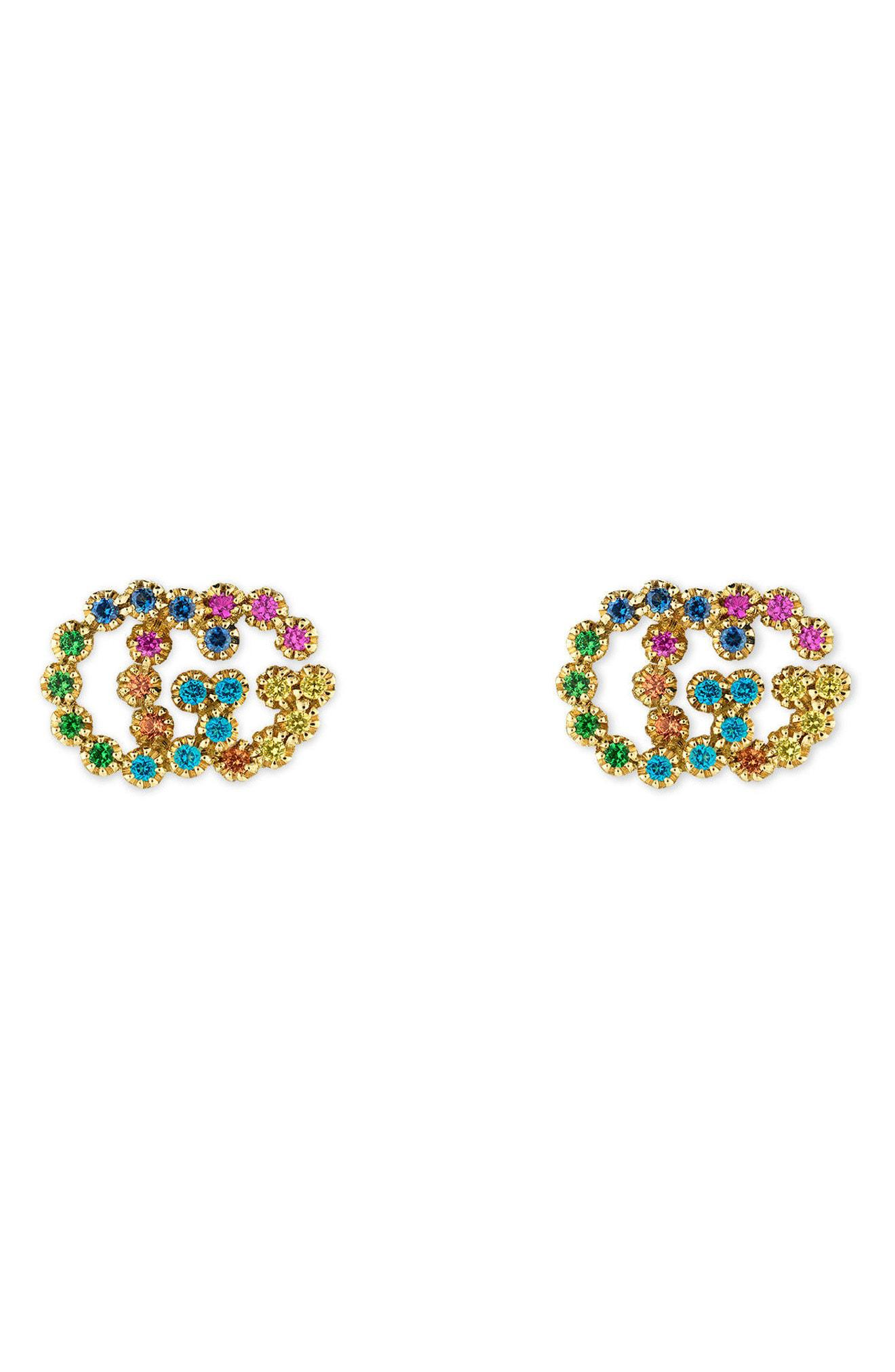 a26f2b738c5 Gucci. Women s Double-g Multistone Stud Earrings