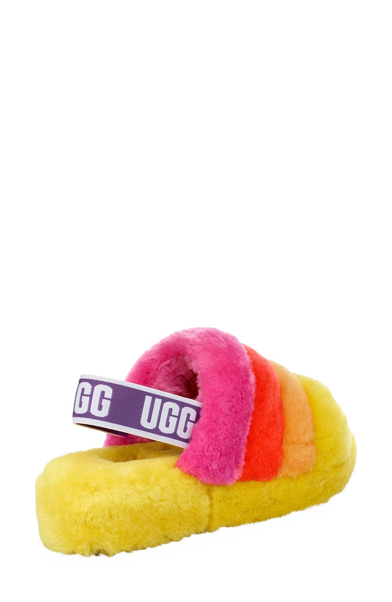20b40cd0323 Ugg Pink Fluff Yeah Pride Slide