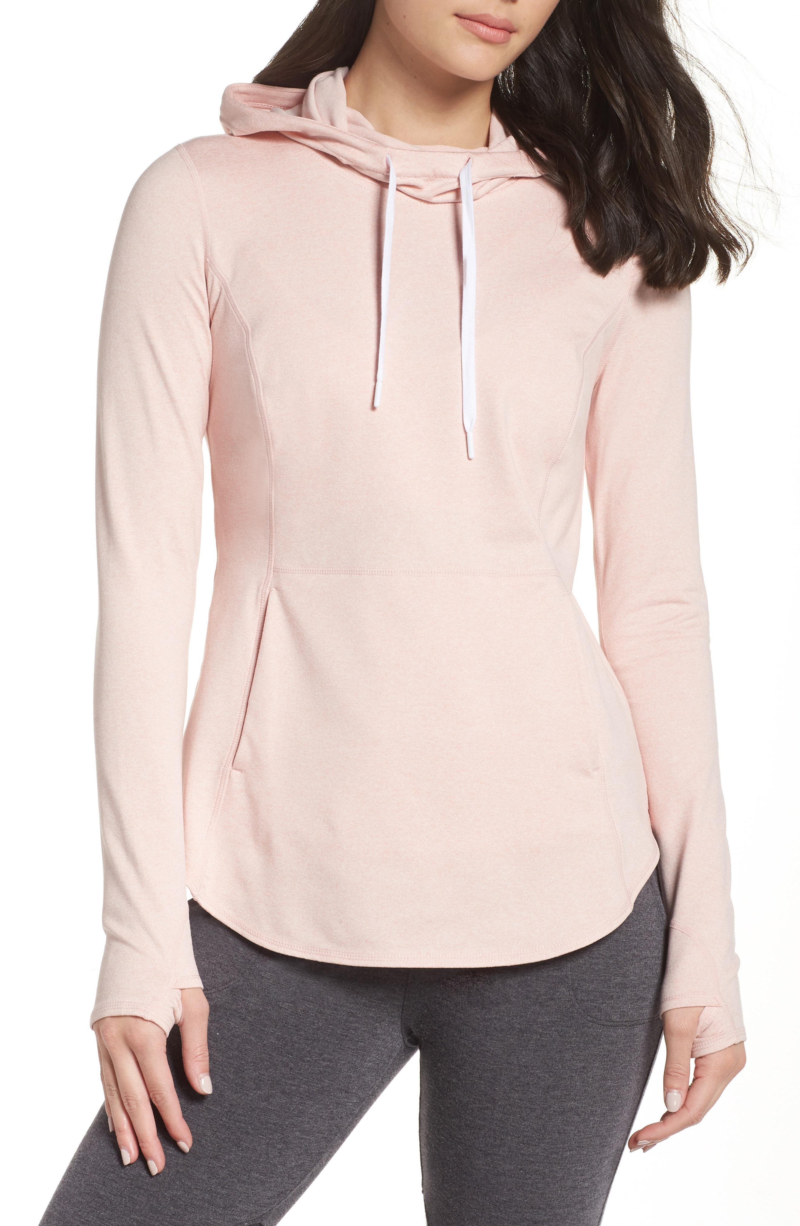 23fb11d6e4d Lyst - Zella Taryn Ultrasoft Recycled Pullover Hoodie in Pink