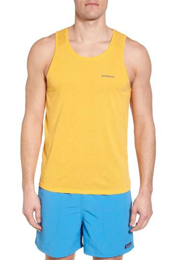 2f4ef34c31362e Lyst - Patagonia Nine Trails Tank in Yellow for Men