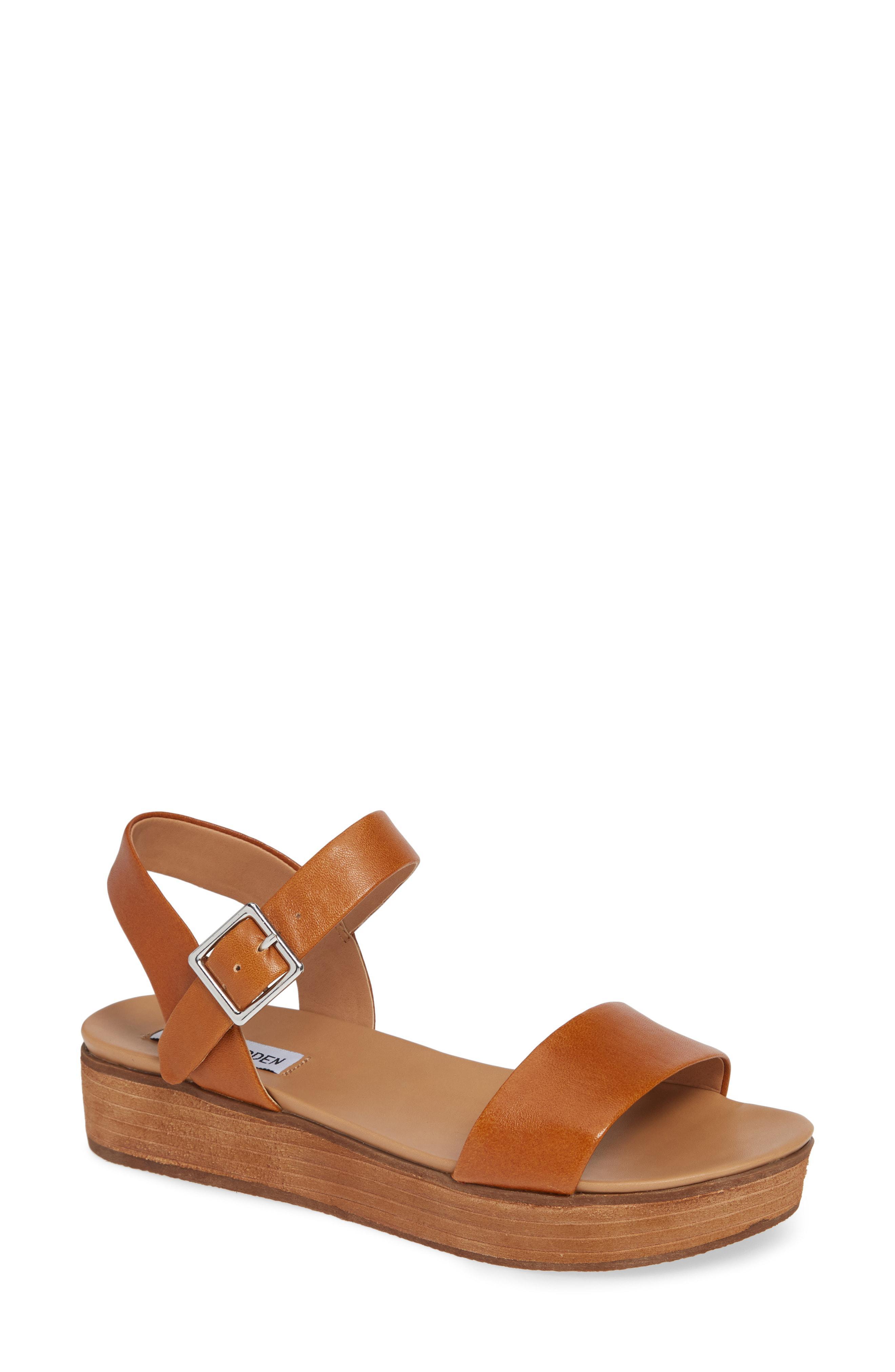 4d6e7dc0a98 Lyst - Steve Madden Aida Platform Sandal in Brown