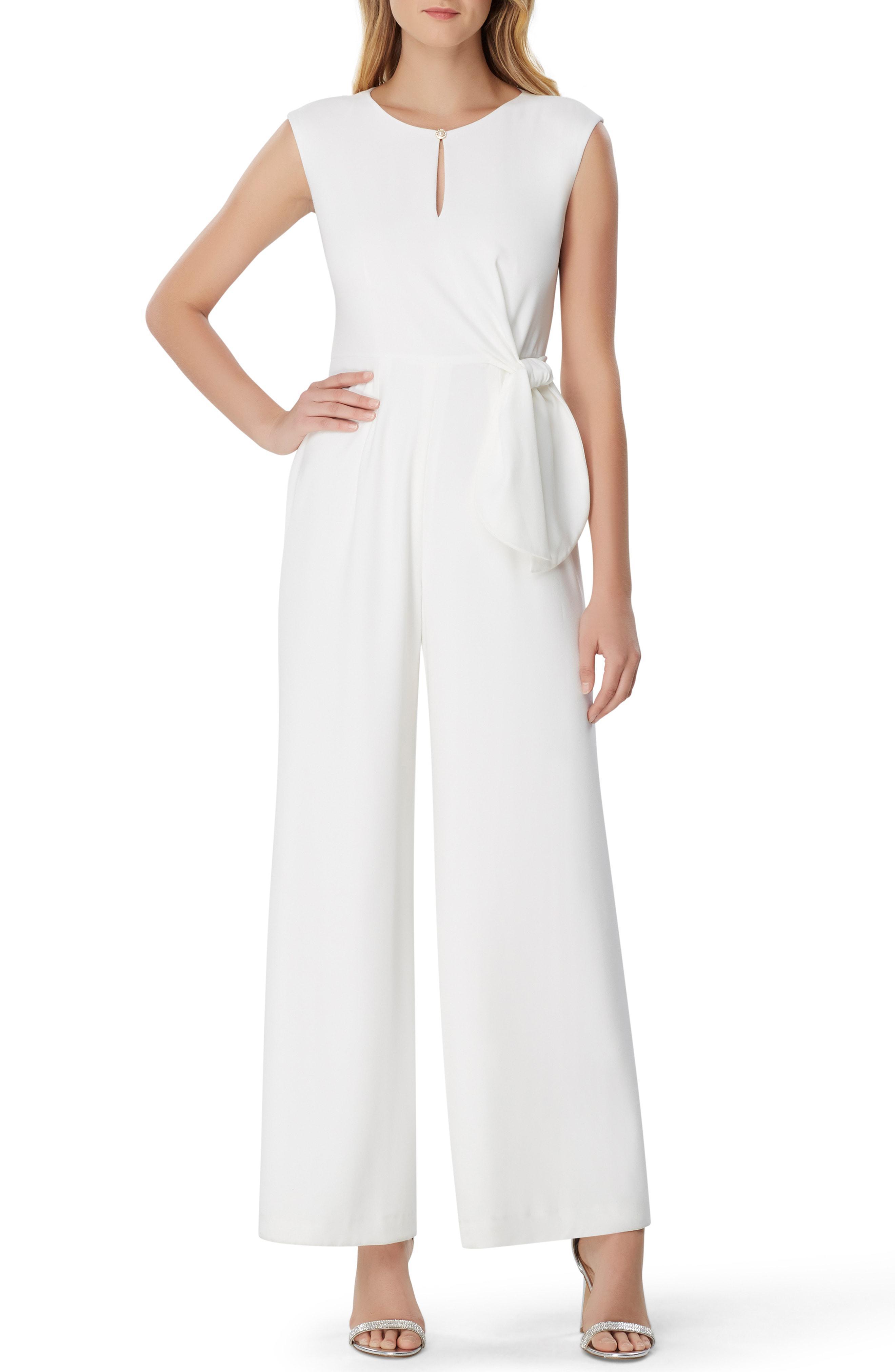 5f946dfad33f No. Tahari - White Crepe Wide Leg Jumpsuit - Lyst. View fullscreen