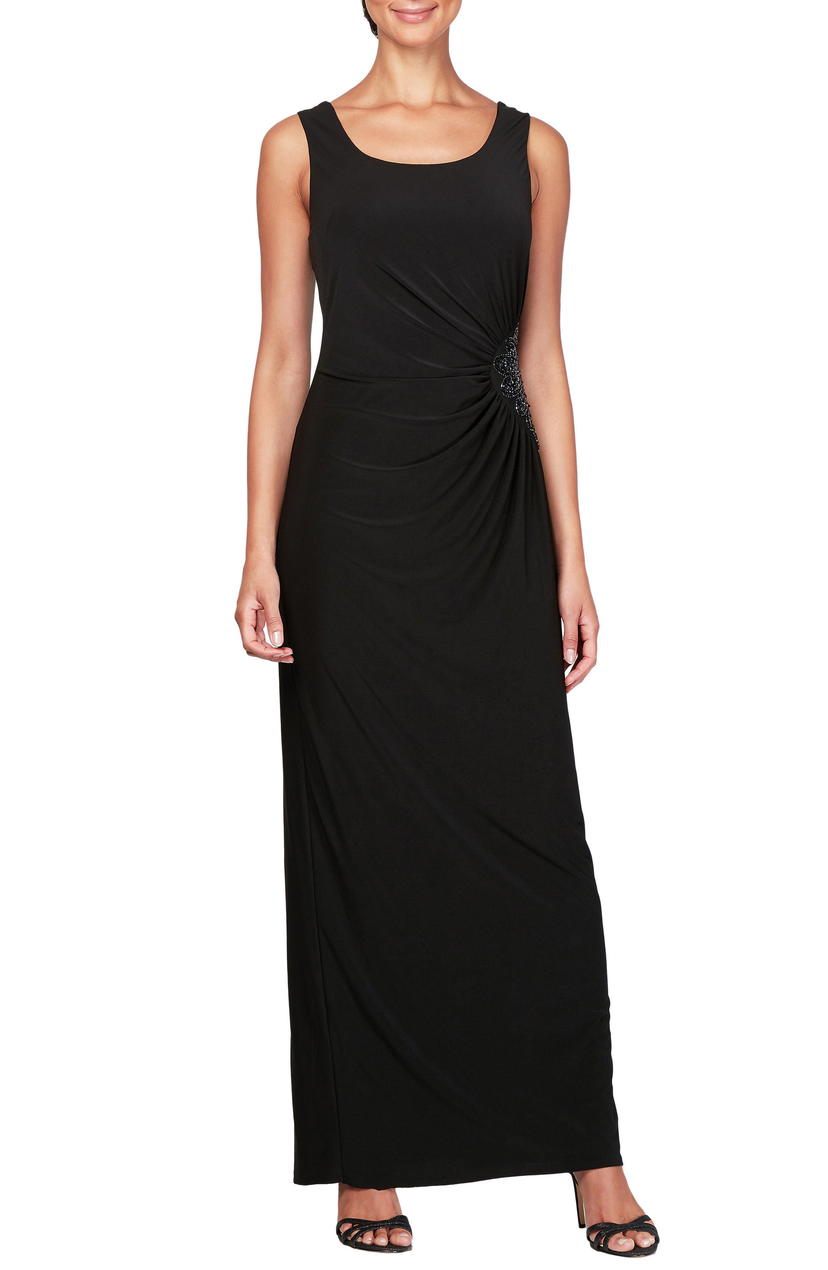 80151d065b0 Lyst - Alex Evenings Ruched Maxi Dress   Jacket in Black