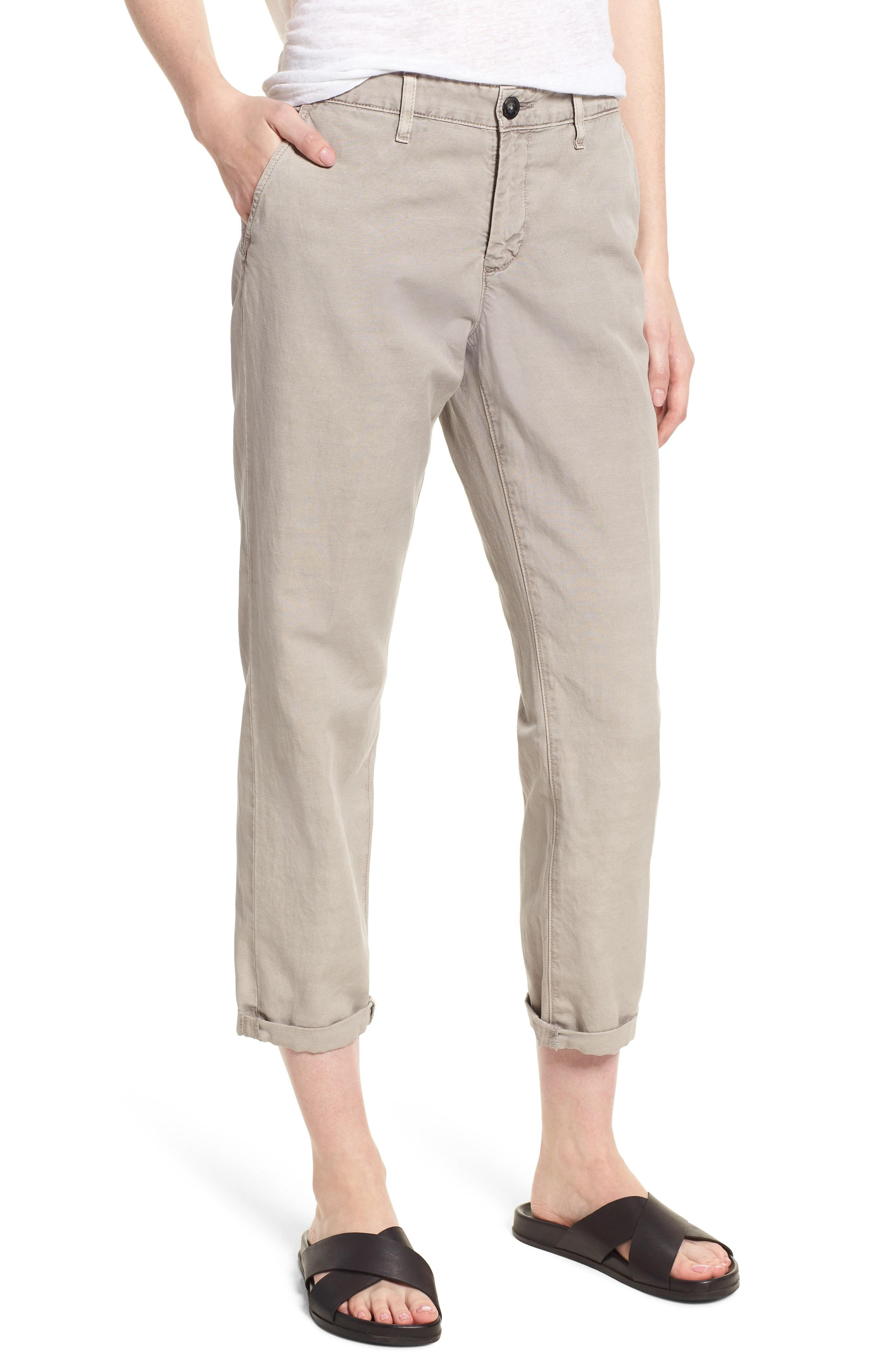 06a0cfeb444 AG Jeans. Women s Caden Crop Twill Trousers