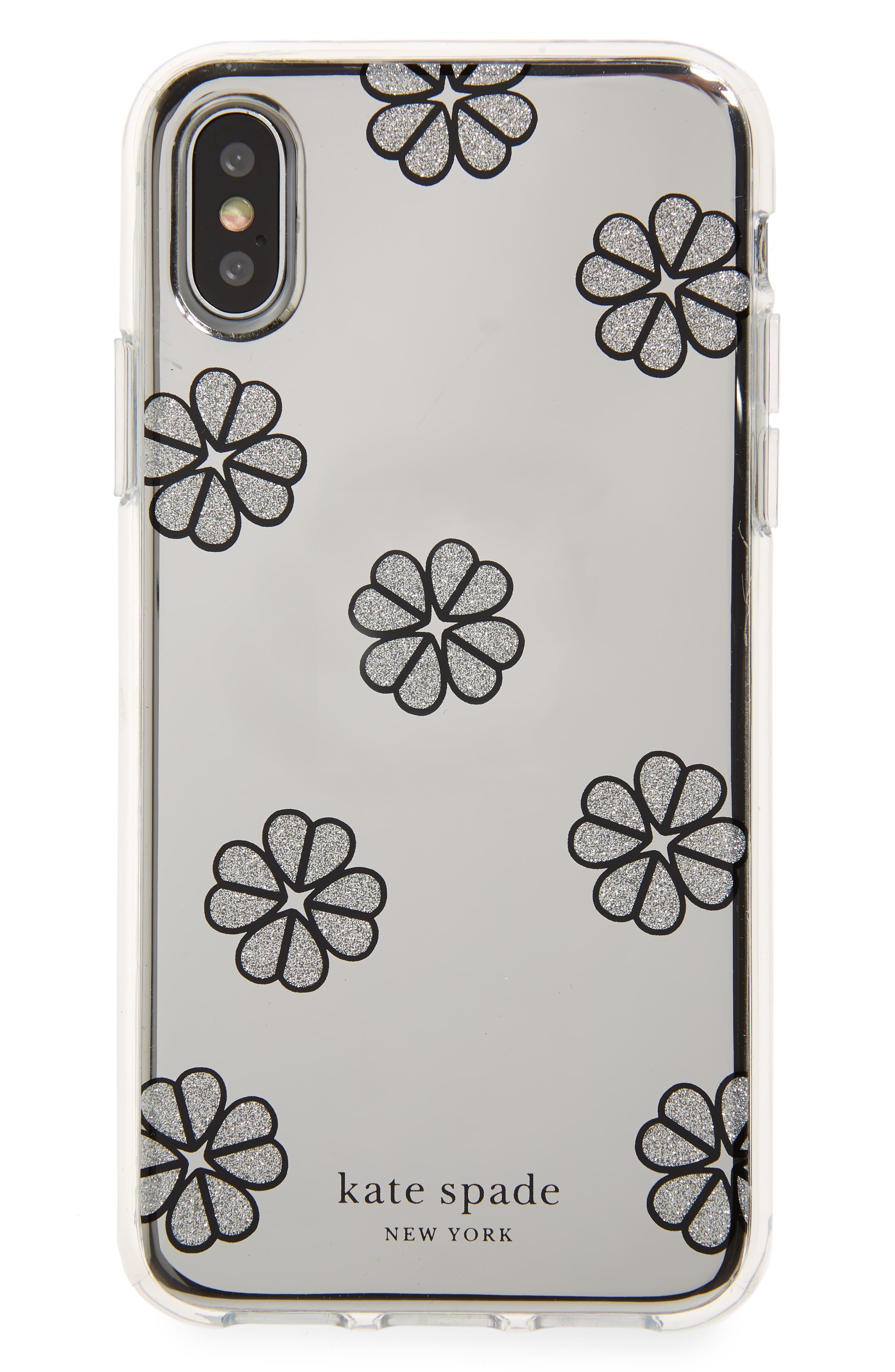 Women's Mirror Spade Clover Toss Iphone X/xs Case - Metallic